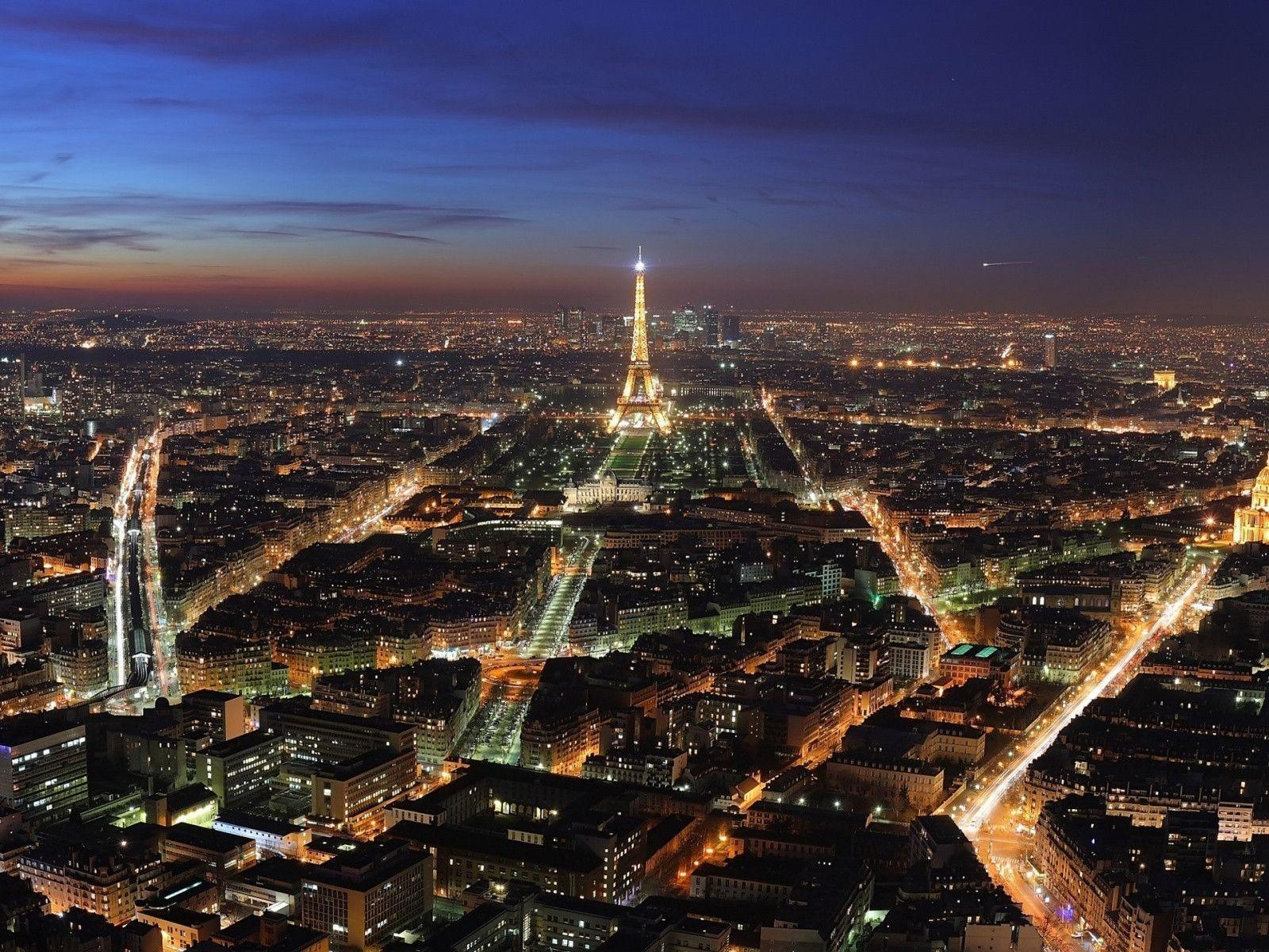 1600x1200 Paris night lights desktop PC and Mac wallpapers