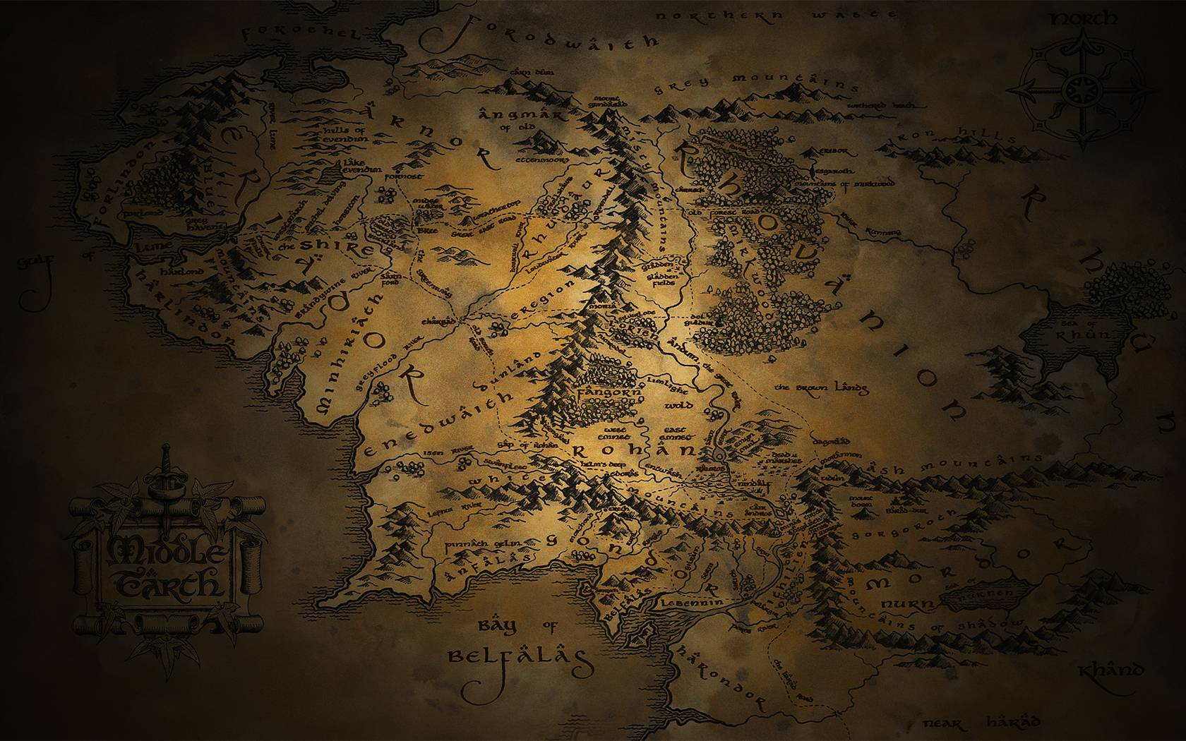 Pics For > Middle Earth Map Wallpapers 1920x1080