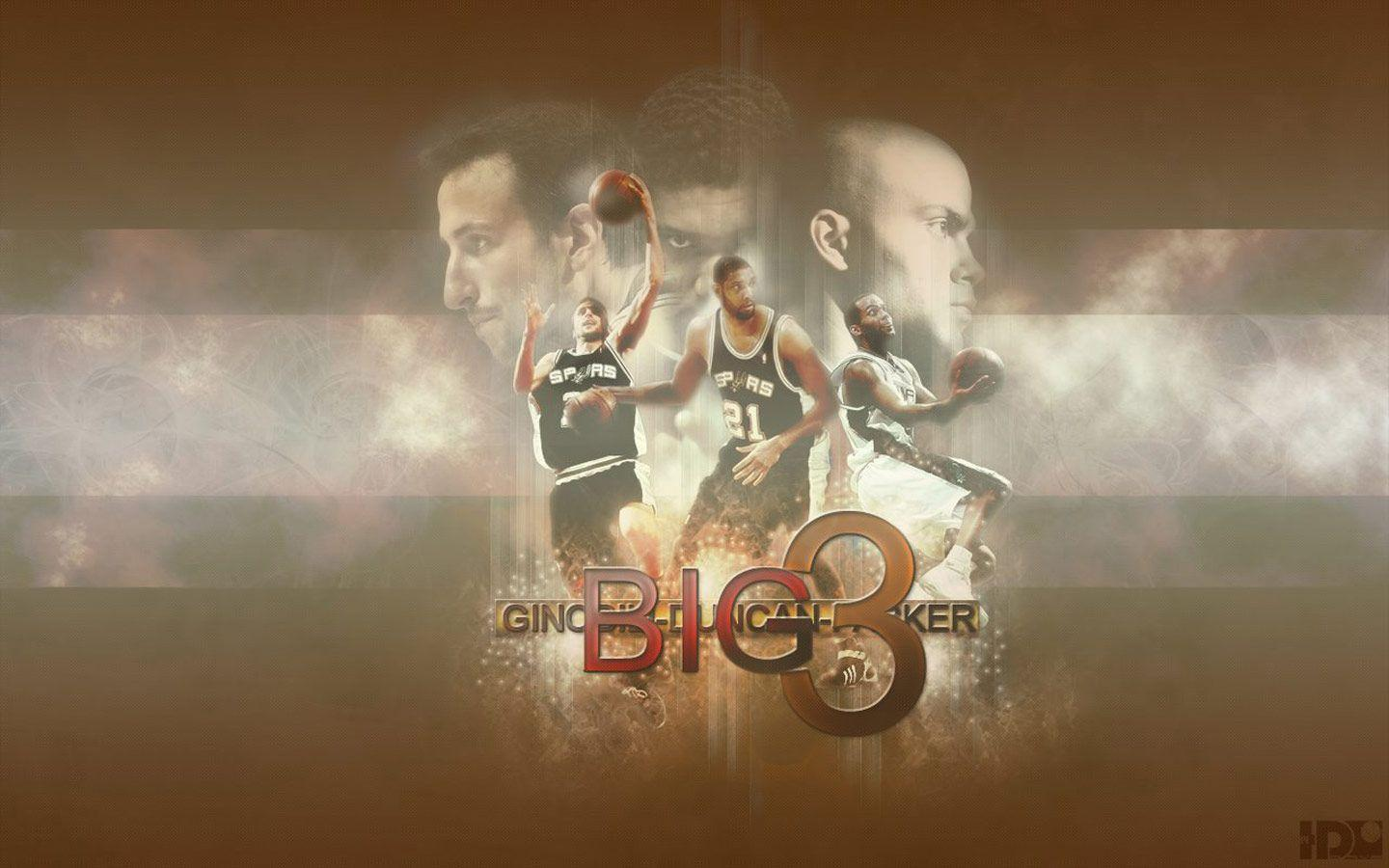 San Antonio Spurs Big 3 Widescreen Wallpaper | Basketball ...