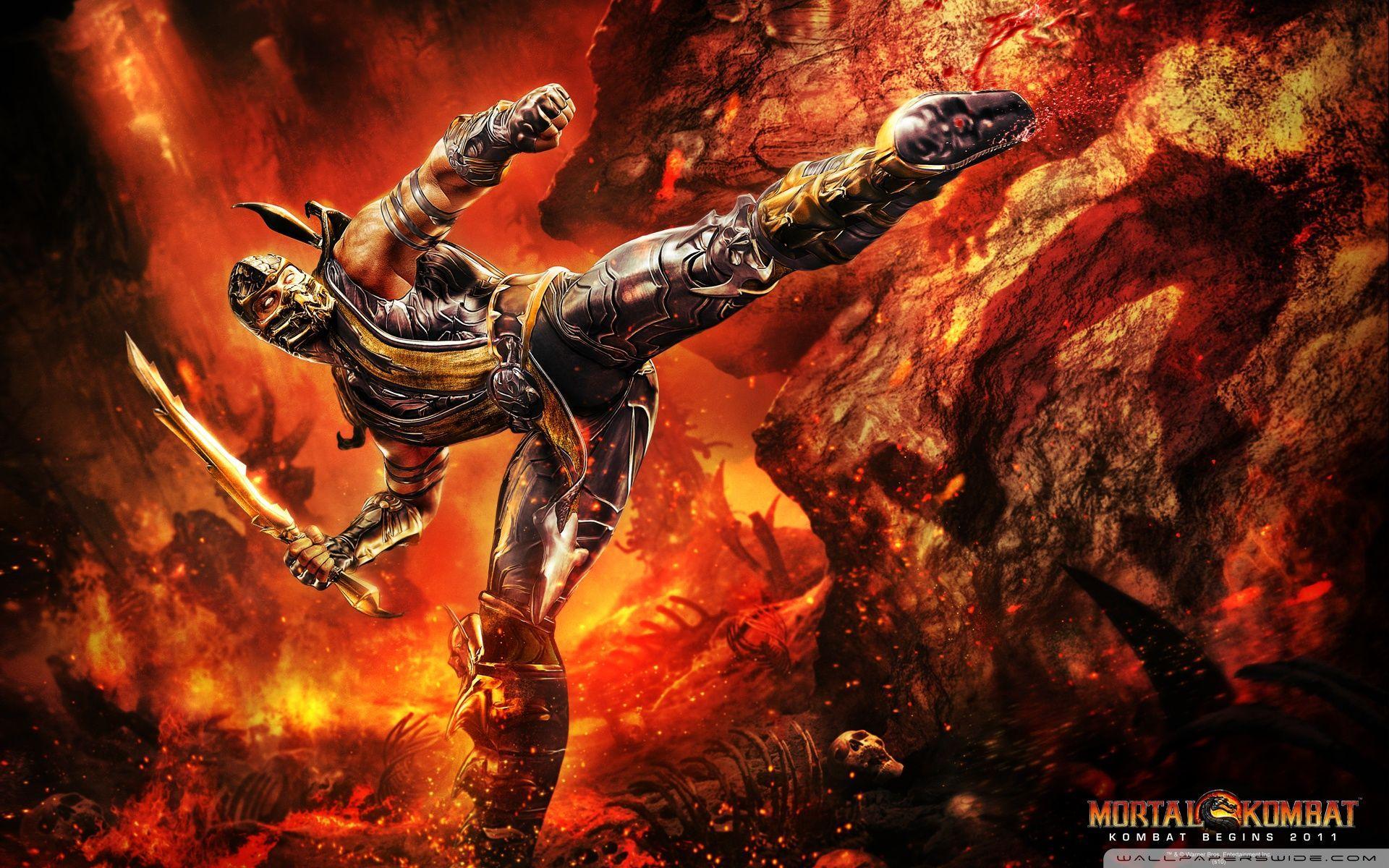 Mortal Kombat 9 Scorpion Wallpapers Hd Wallpaper Cave