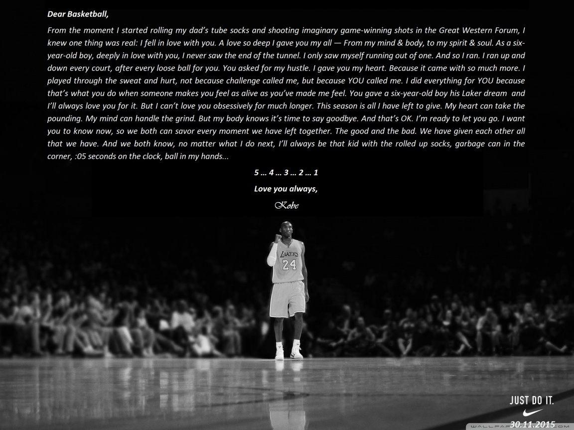Kobe Bryant Retirement 4K HD Desktop Wallpaper For