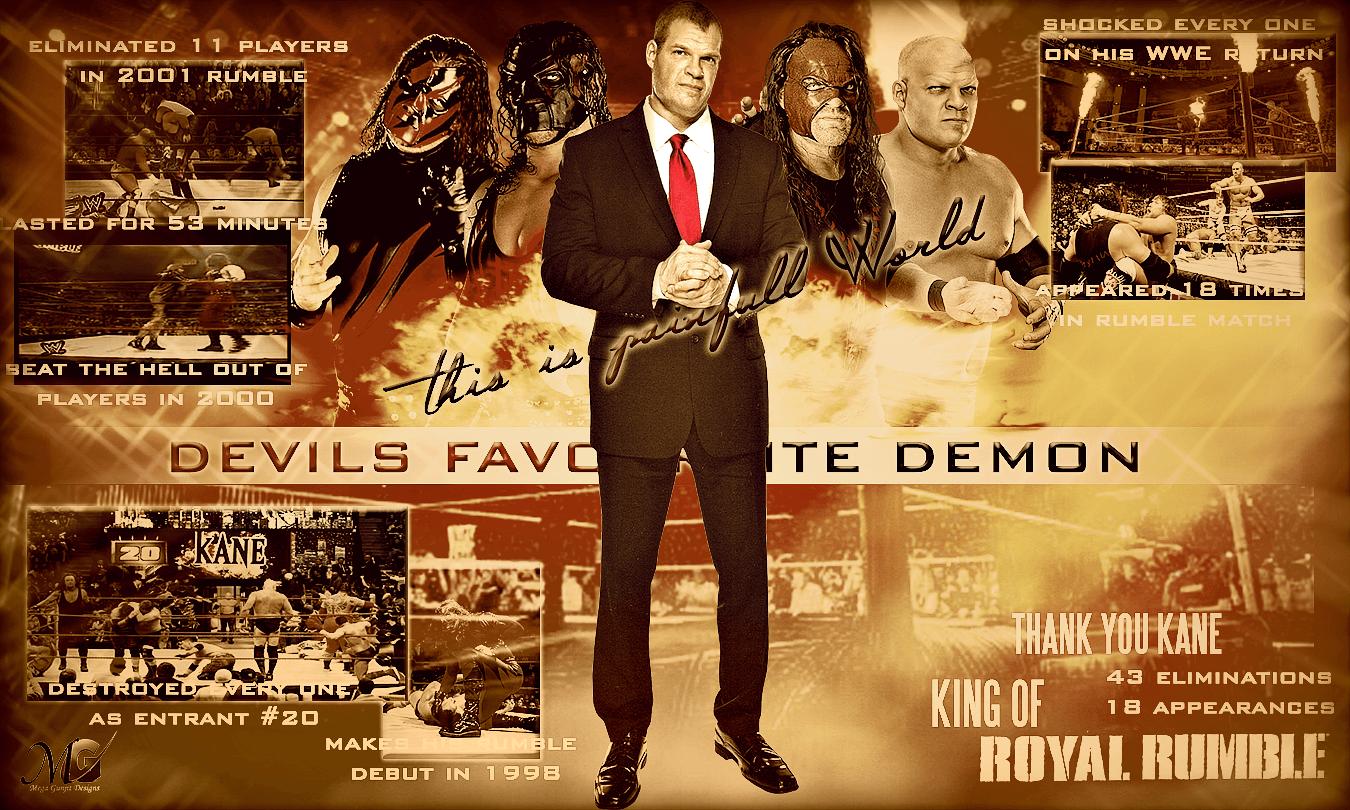 WWE HD Wallpapers - Kane Royal Rumble Tribute by Megagunjit on ...