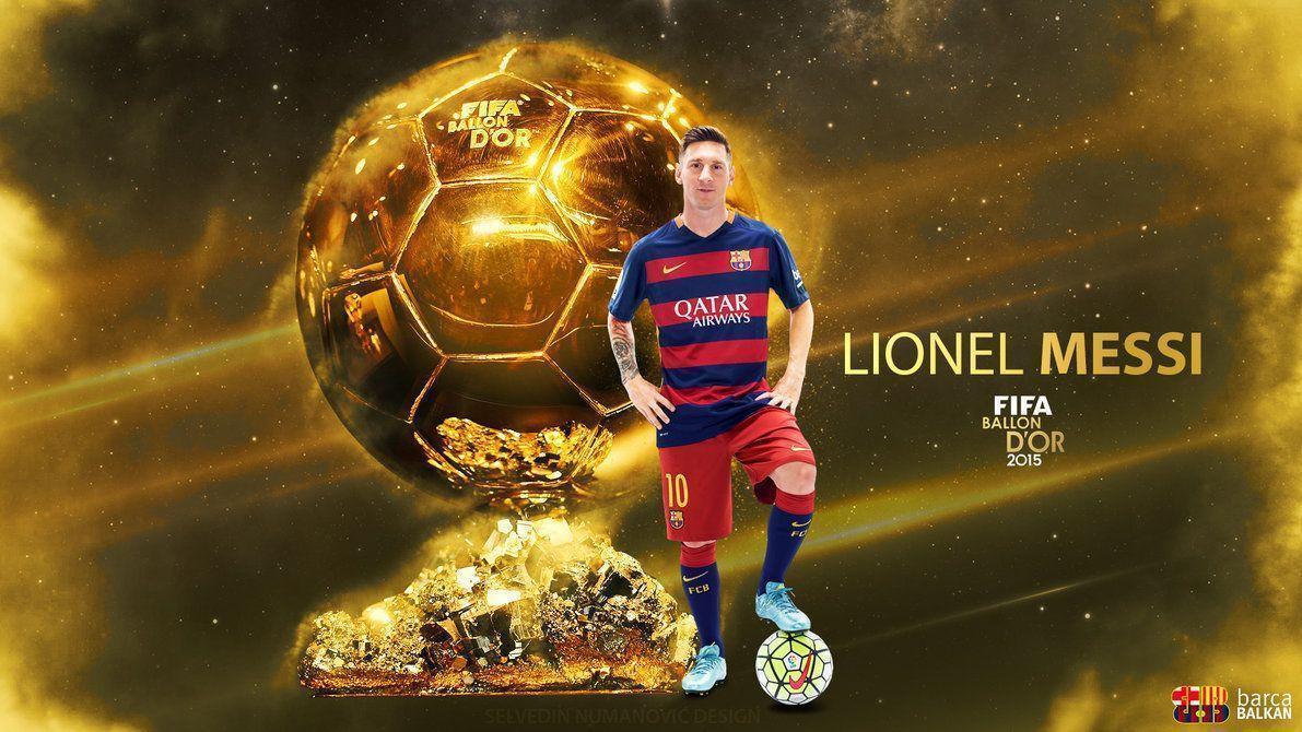 Lionel Messi Fifa Ballon Dor  Hd Wallpaper By Selvedinfcb On