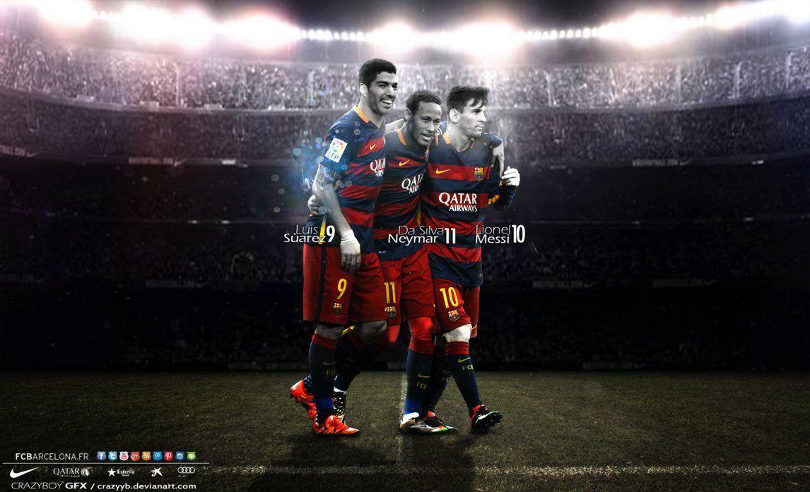 MSN Messi Suarez Neymar Wallpaper Free Download
