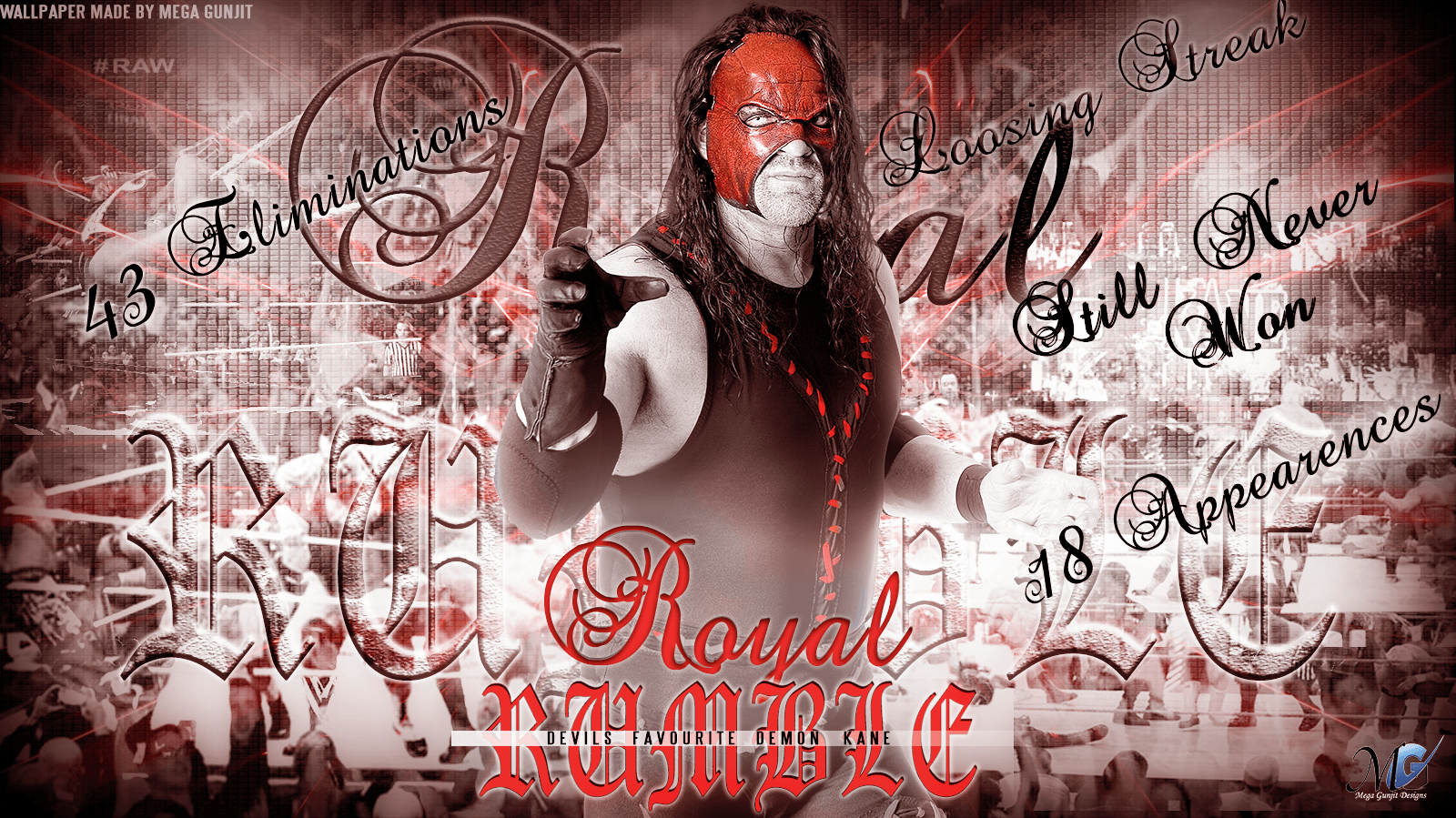 WWE HD Wallpapers - Kane Royal Rumble Tribute 2 by Megagunjit on ...