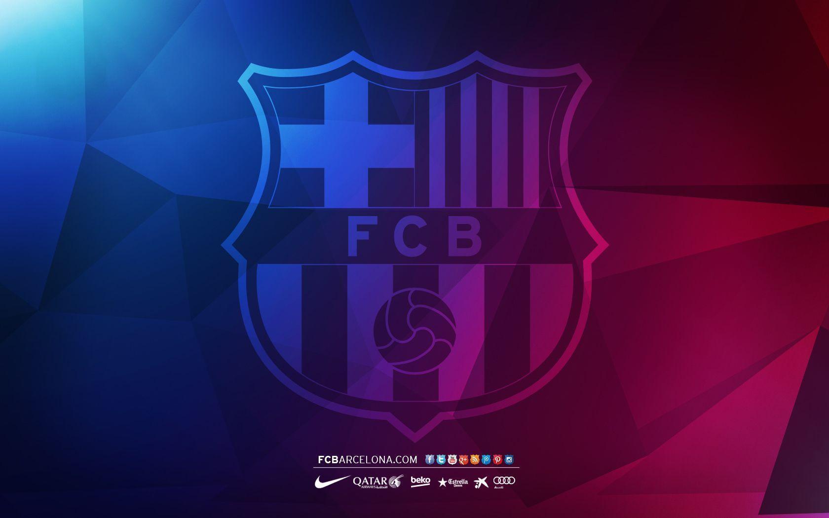 FCB crest 04 - Wallpaper - FC Barcelona