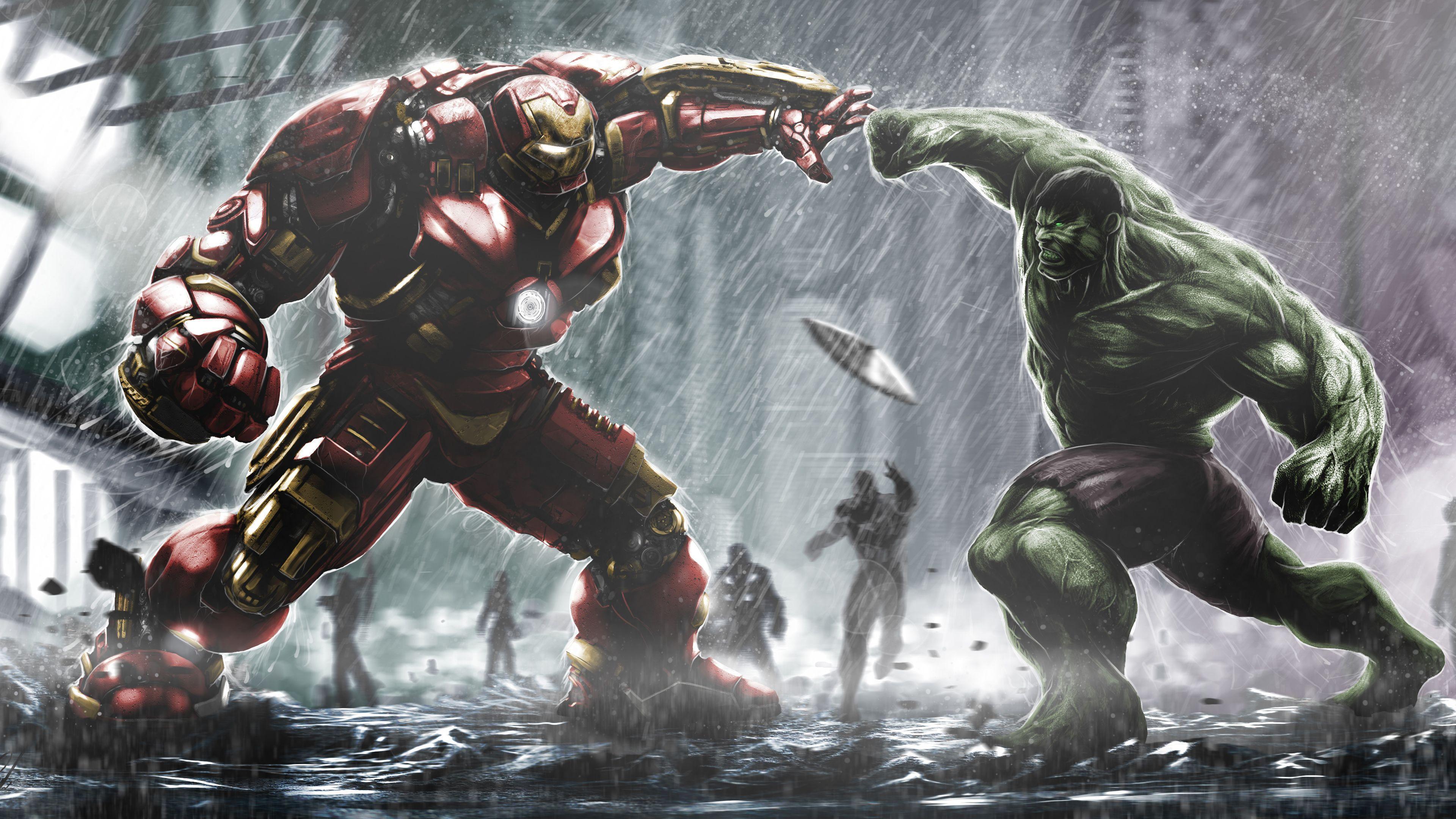 Hulk Vs Hulkbuster Wallpapers