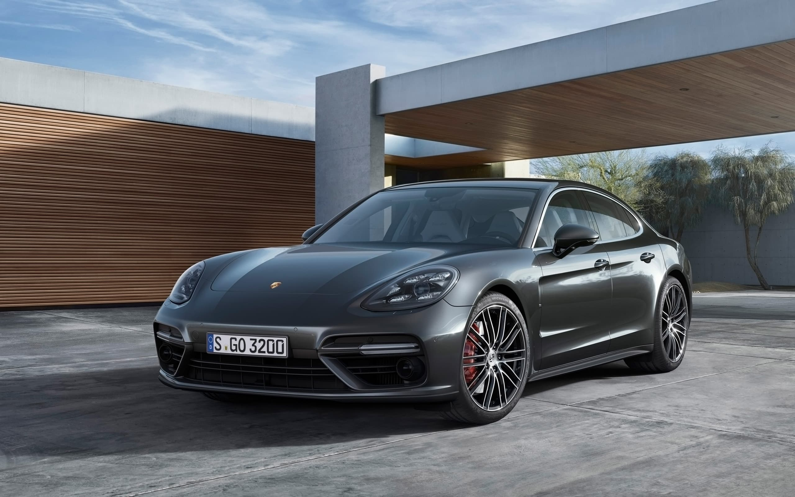 Porsche Panamera Turbo S 2017 wallpapers HD, White, Black, Red