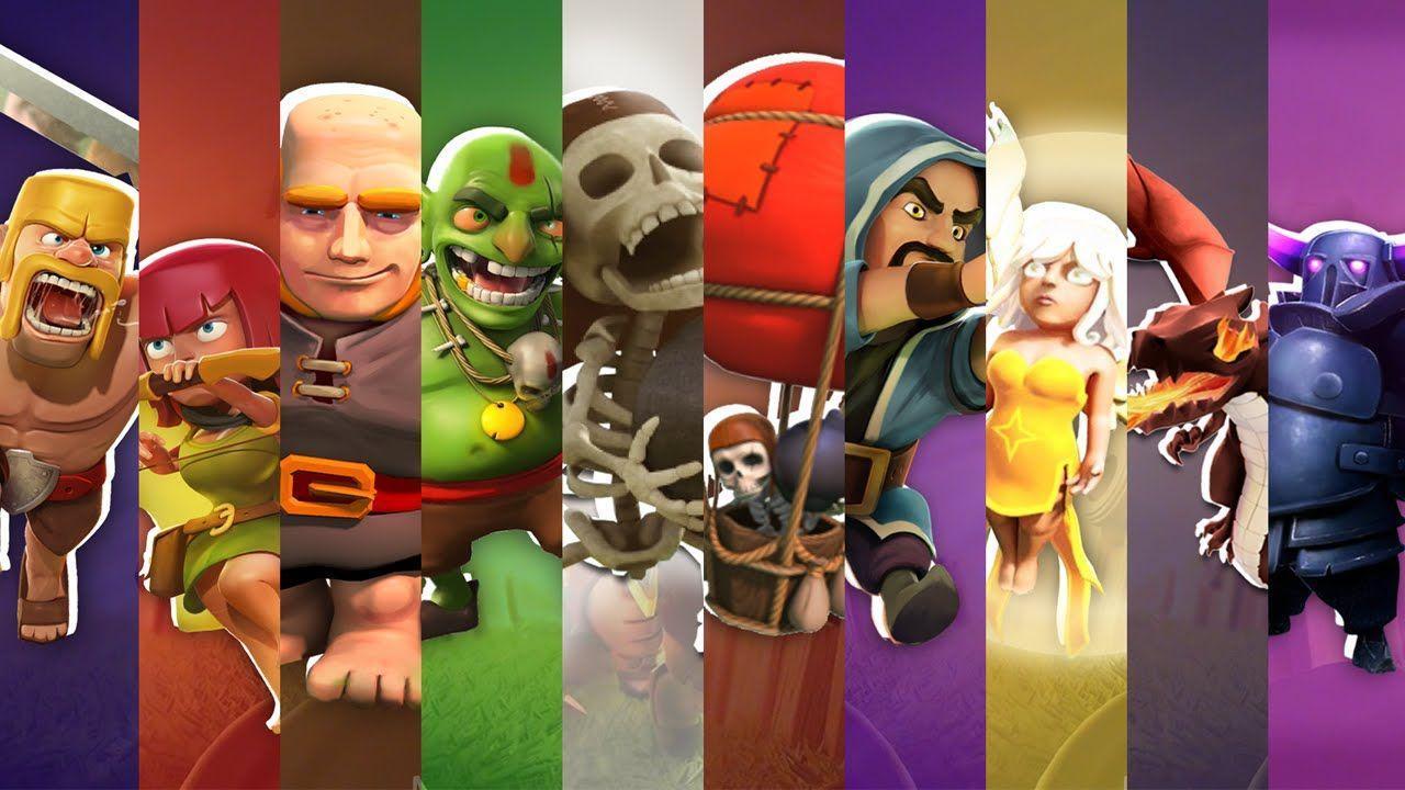 Clash of Clans Art :: CHARACTER PACK Wallpaper HD - DOWNLOAD - YouTube