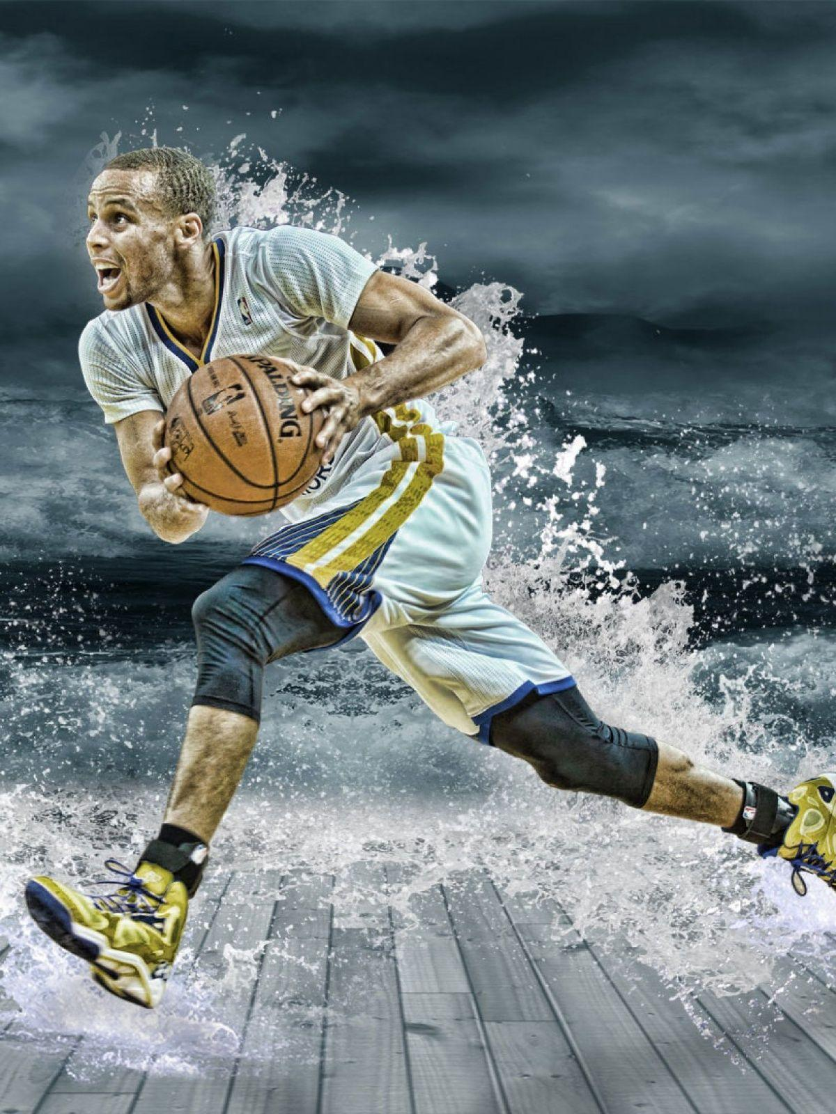 Stephen Curry Splash Mobile Wallpaper - Mobiles Wall