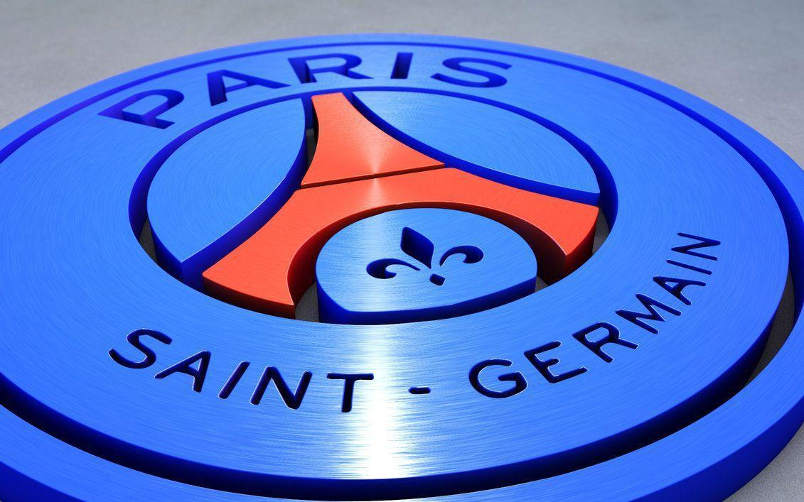High Resolution 3D Paris Saint Germain PSG Logo Wallpaper Full
