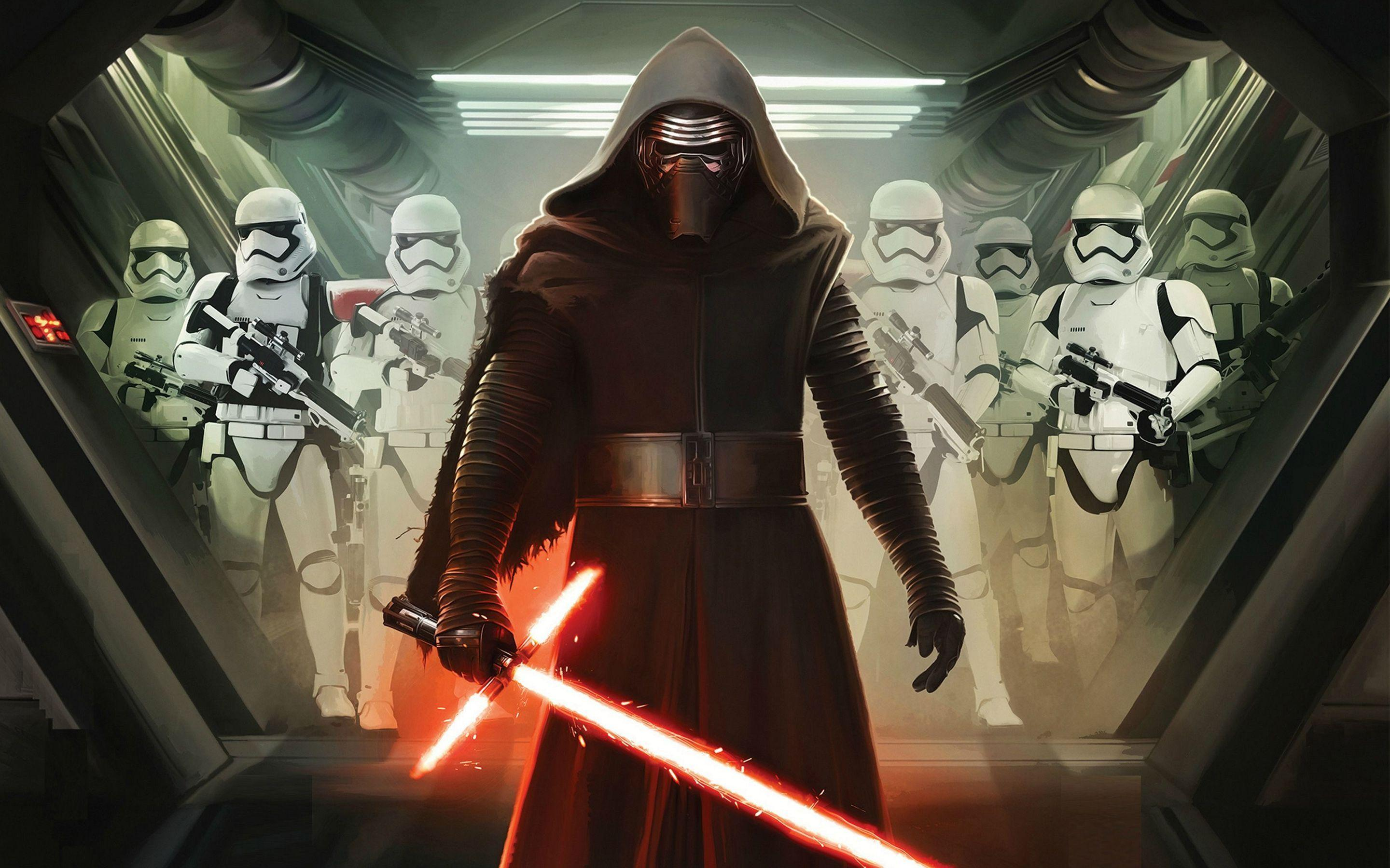 Kylo Ren and First Order Stormtroopers Wallpapers | HD Wallpapers
