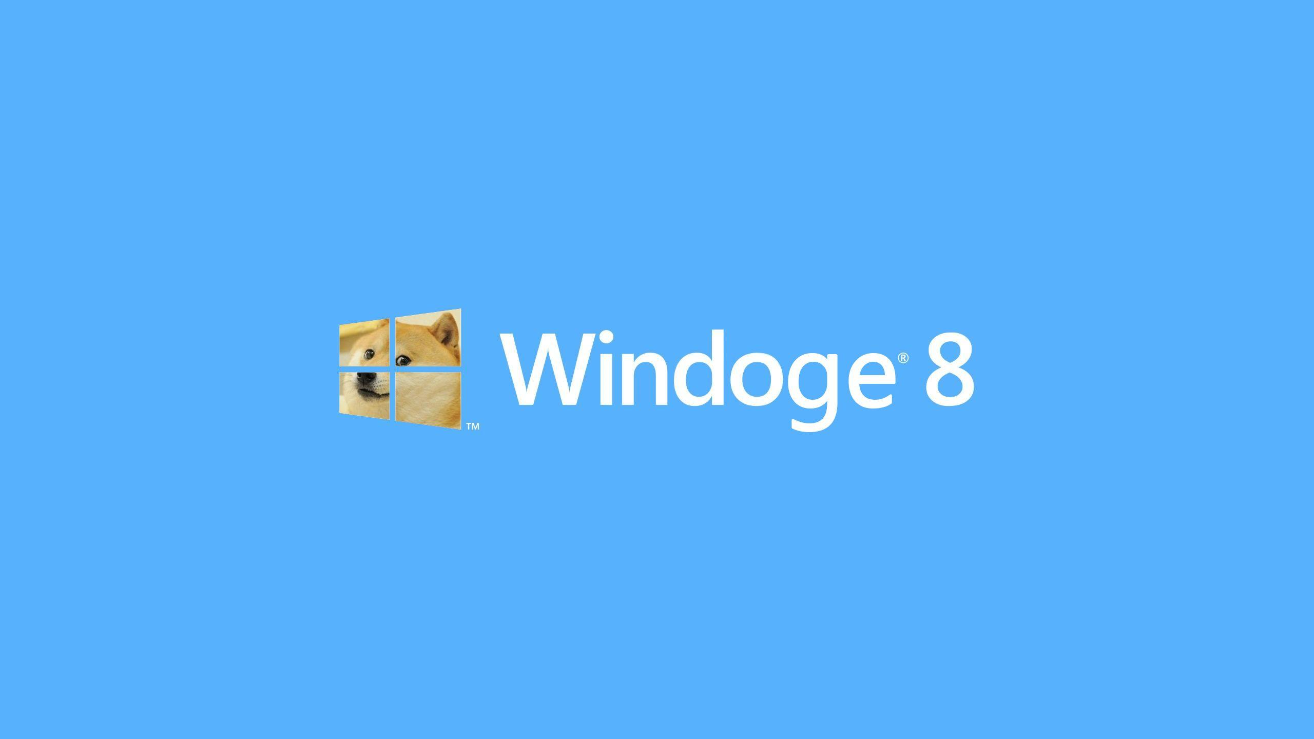 Windoge 8 DOGE Meme Wallpaper free desktop backgrounds and wallpapers