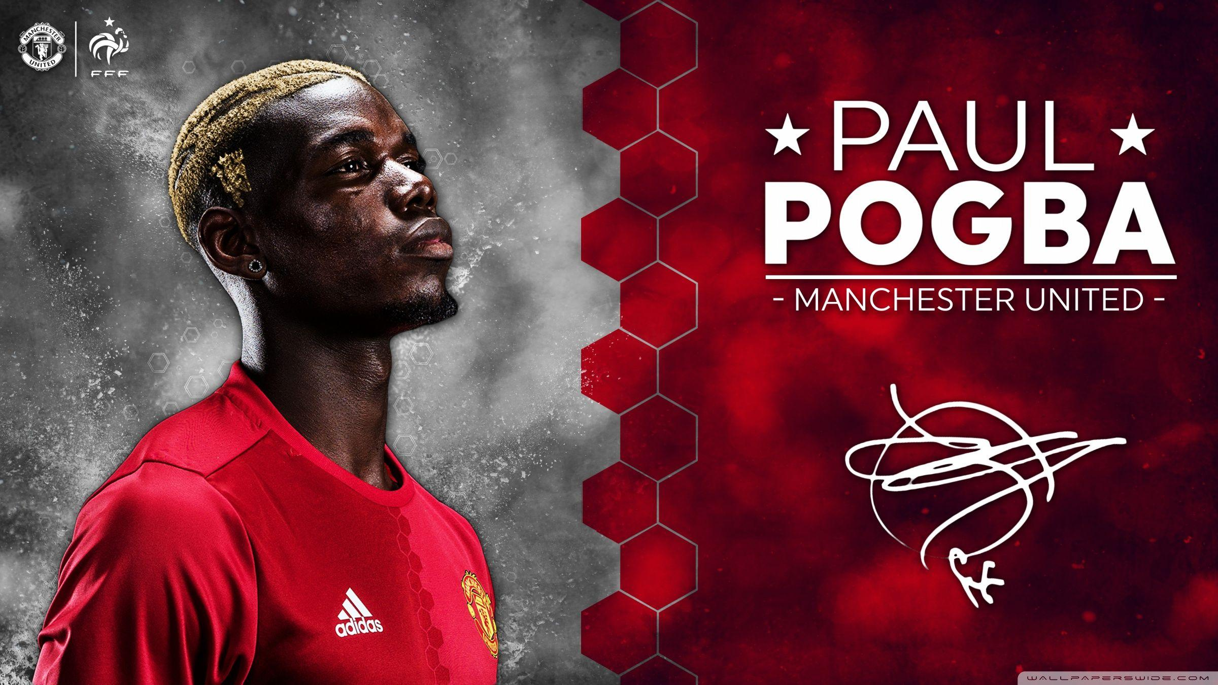 Paul Pogba Manchester United 2016 17 HD desktop wallpaper : High ...