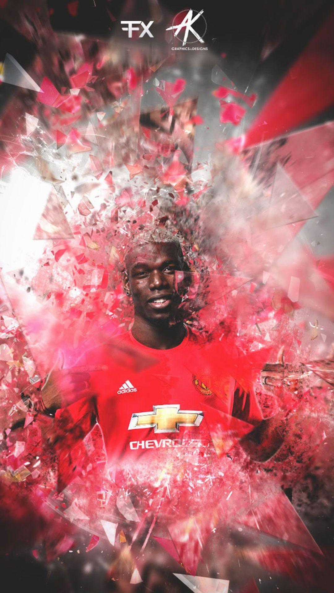 Paul Pogba Manchester United iPhone Wallpaper - Wallpapers iPhone