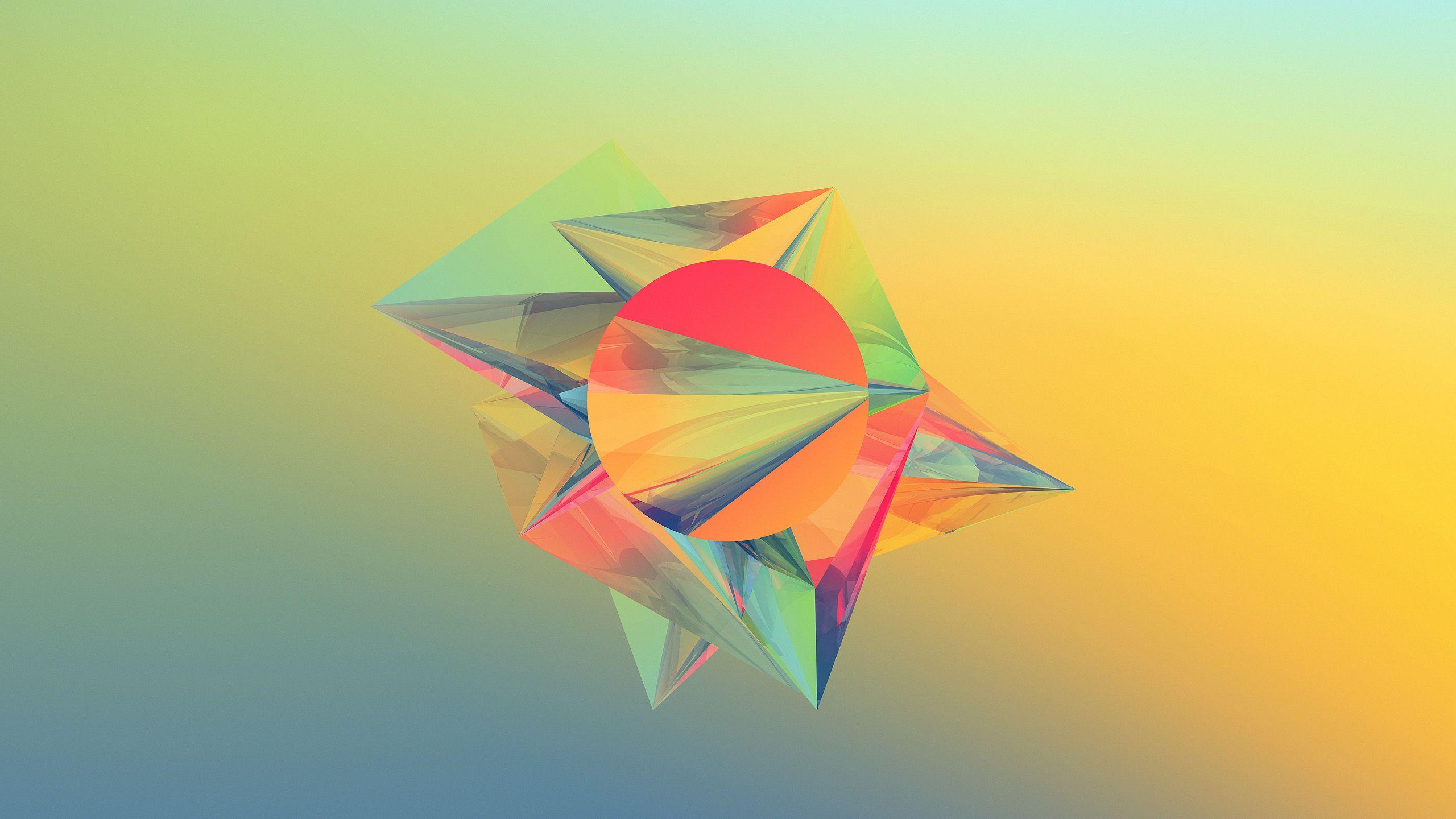Geometric Abstract Shapes Wallpaper | 2560x1440 | ID:33824