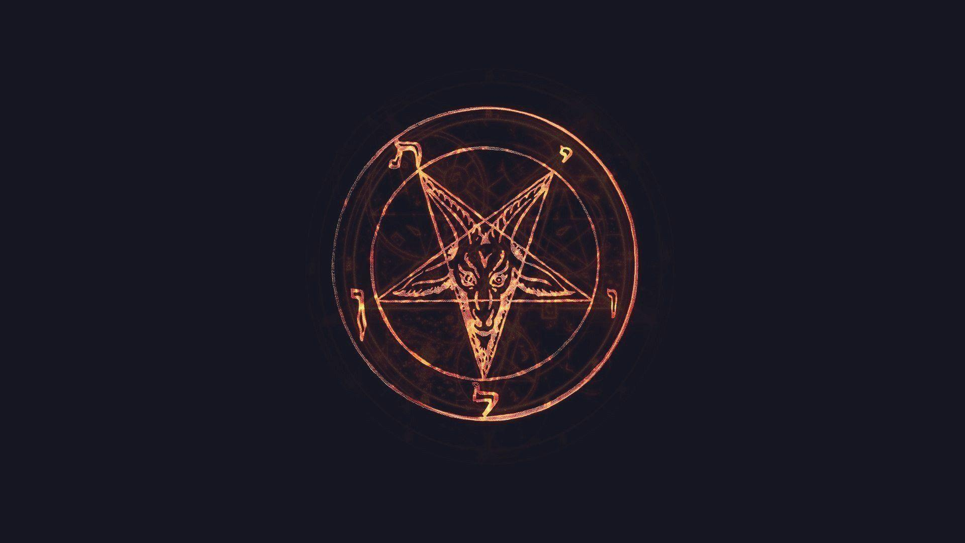 pentagram lucifer satan glow HD wallpaper