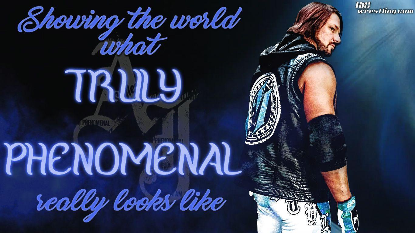 AJ Styles – Truly Phenomenal Wallpaper | Hittin' The Canvas