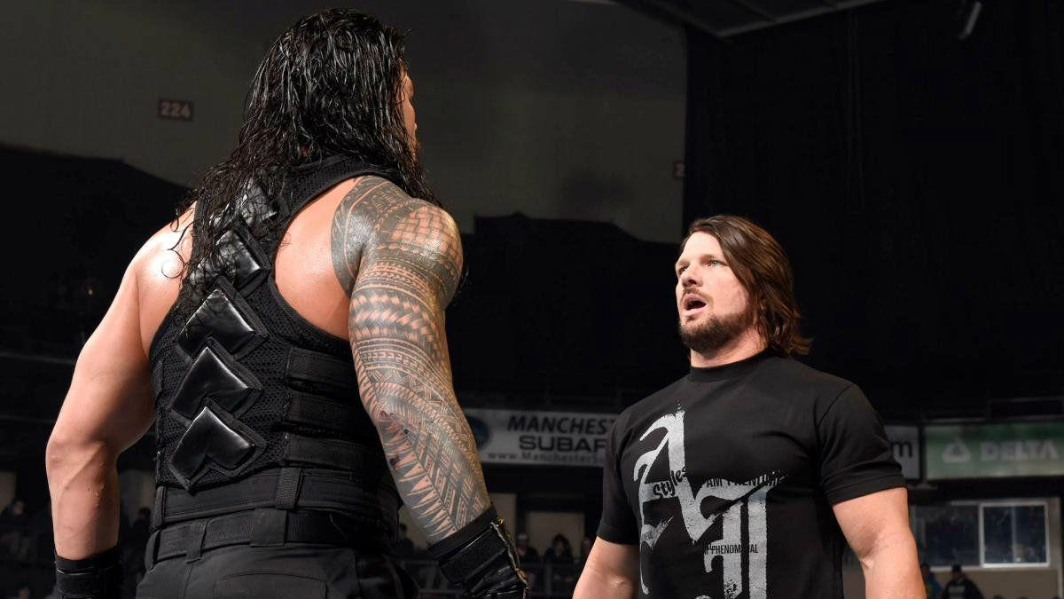 Wrestler Roman Reigns Vs AJ Styles WWE Wallpaper | HD Wallpapers ...