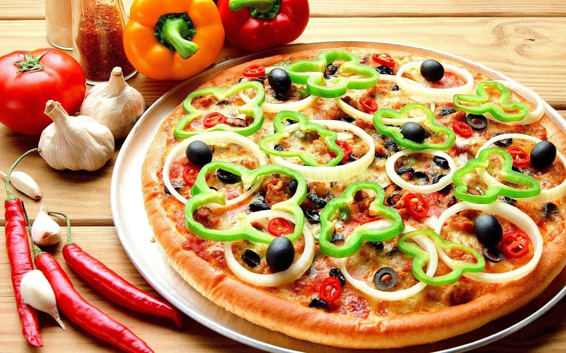 Pizza - photo wallpapers, pictures with pizza