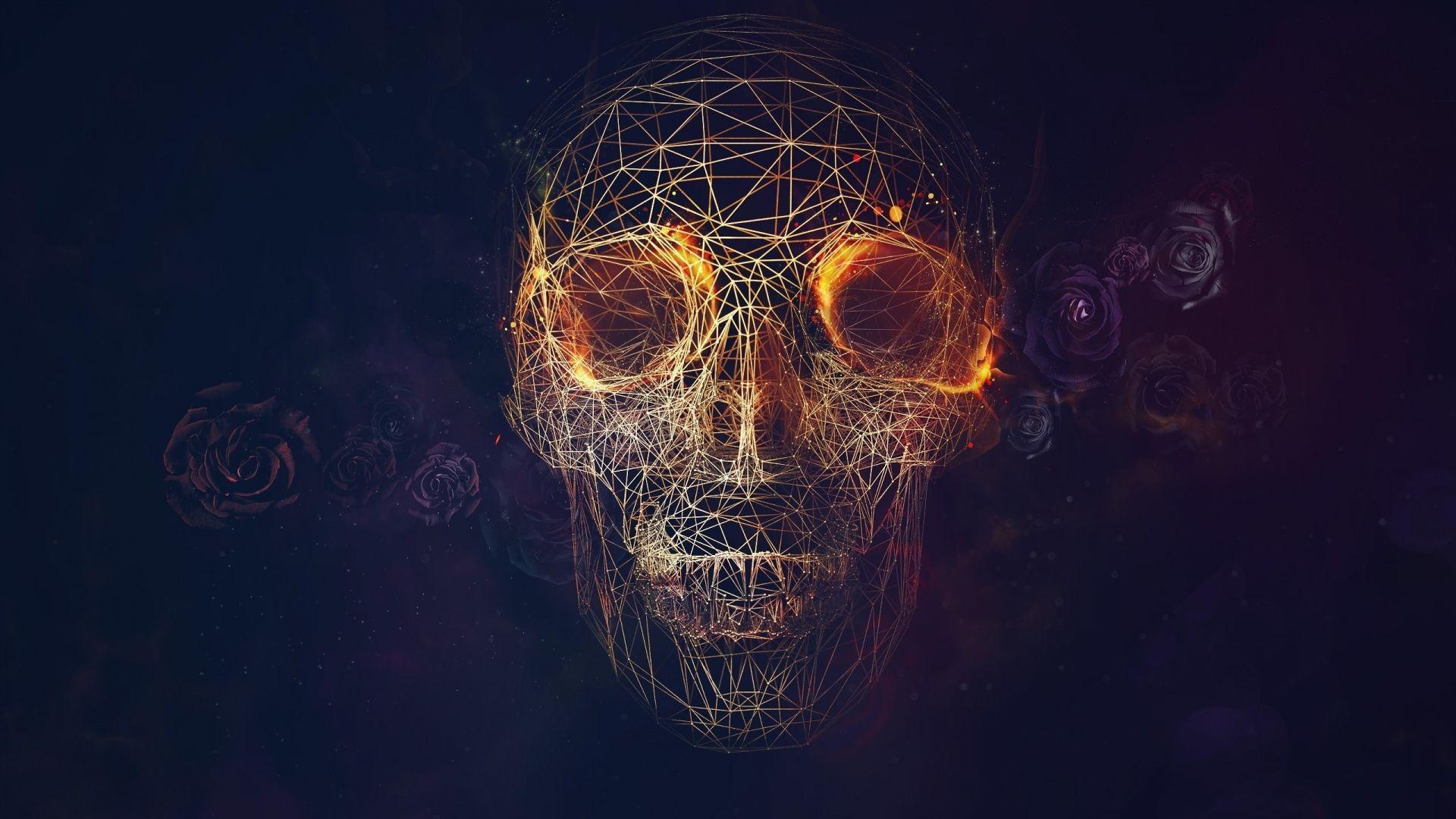 Geometry wallpapers wallpaper cave - Skull 4k images ...