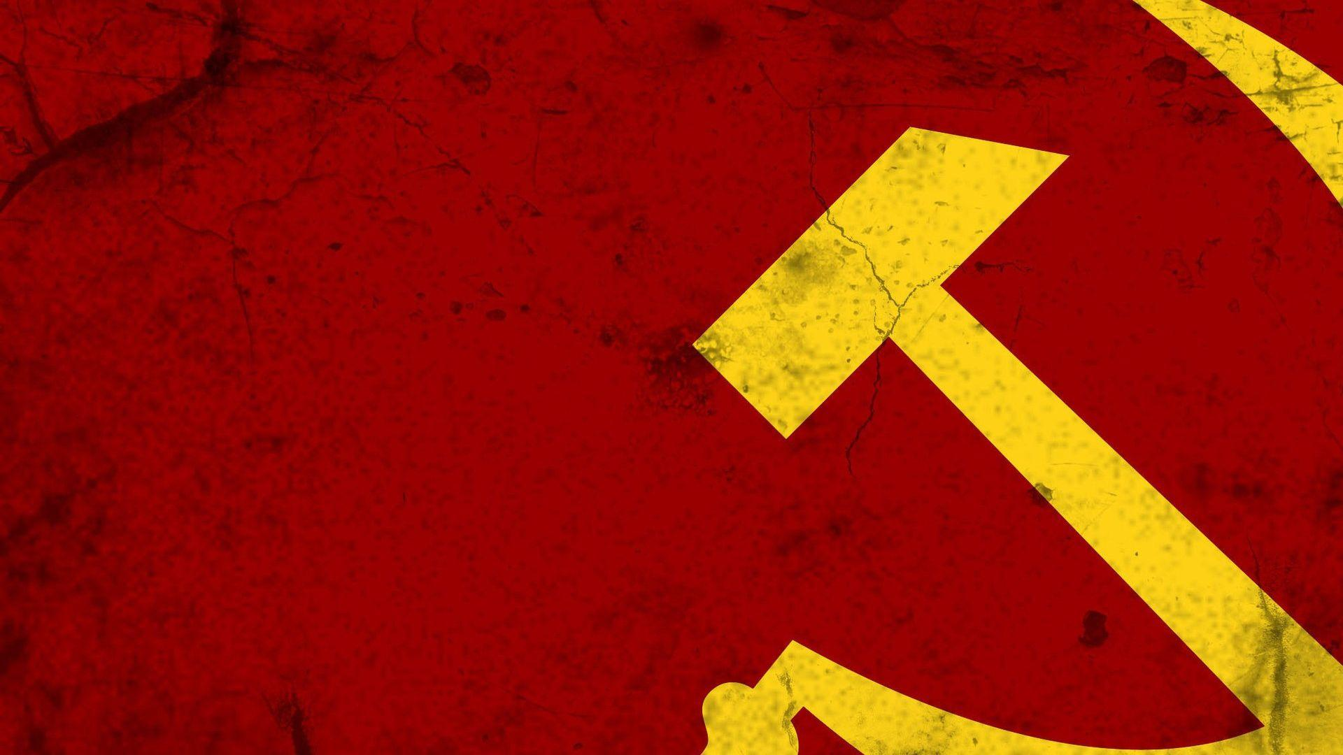 Download Wallpapers 1920x1080 hammer and sickle, soviet union