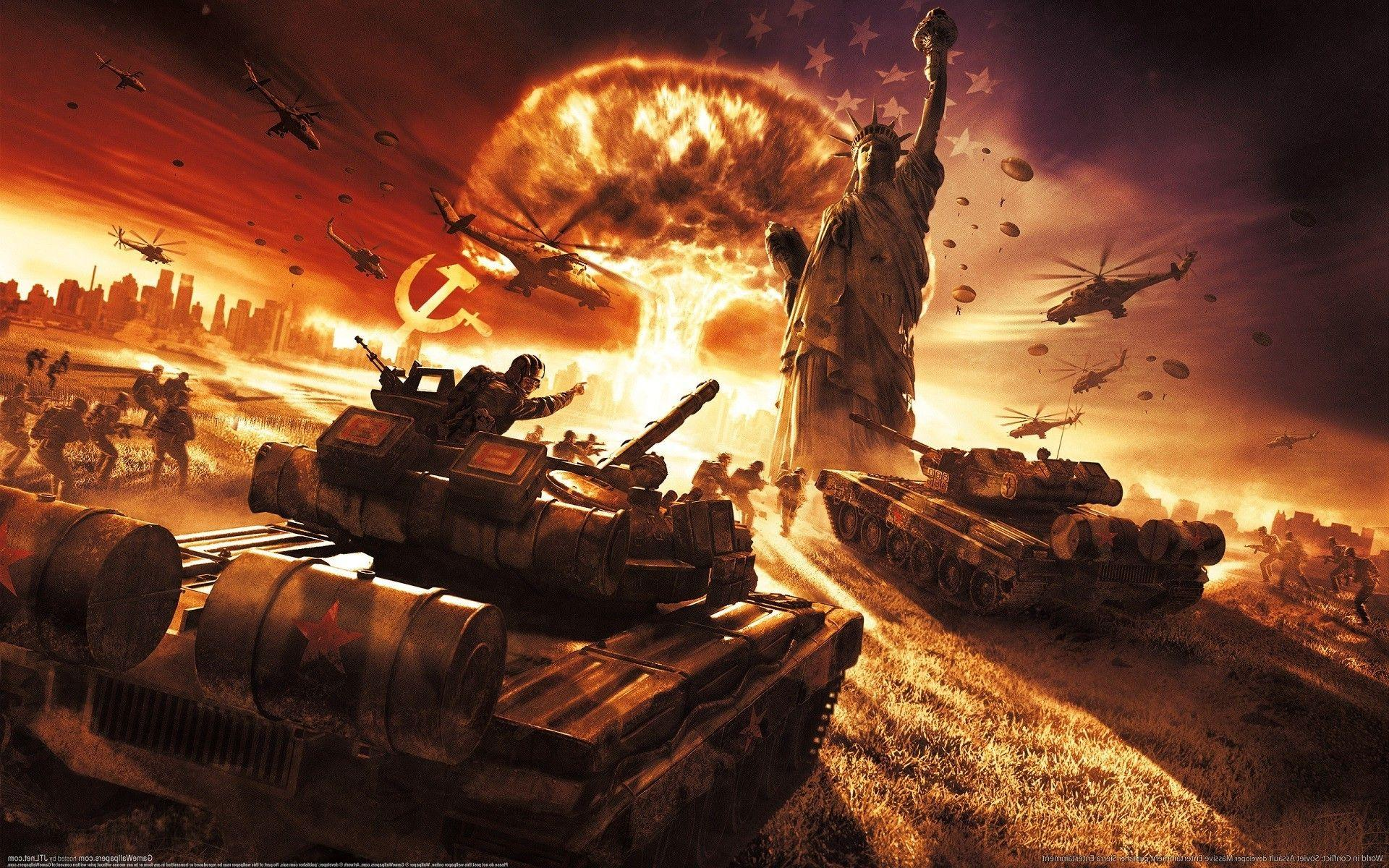 world In Conflict, Video Games, Soviet Army, Soviet Union, USSR