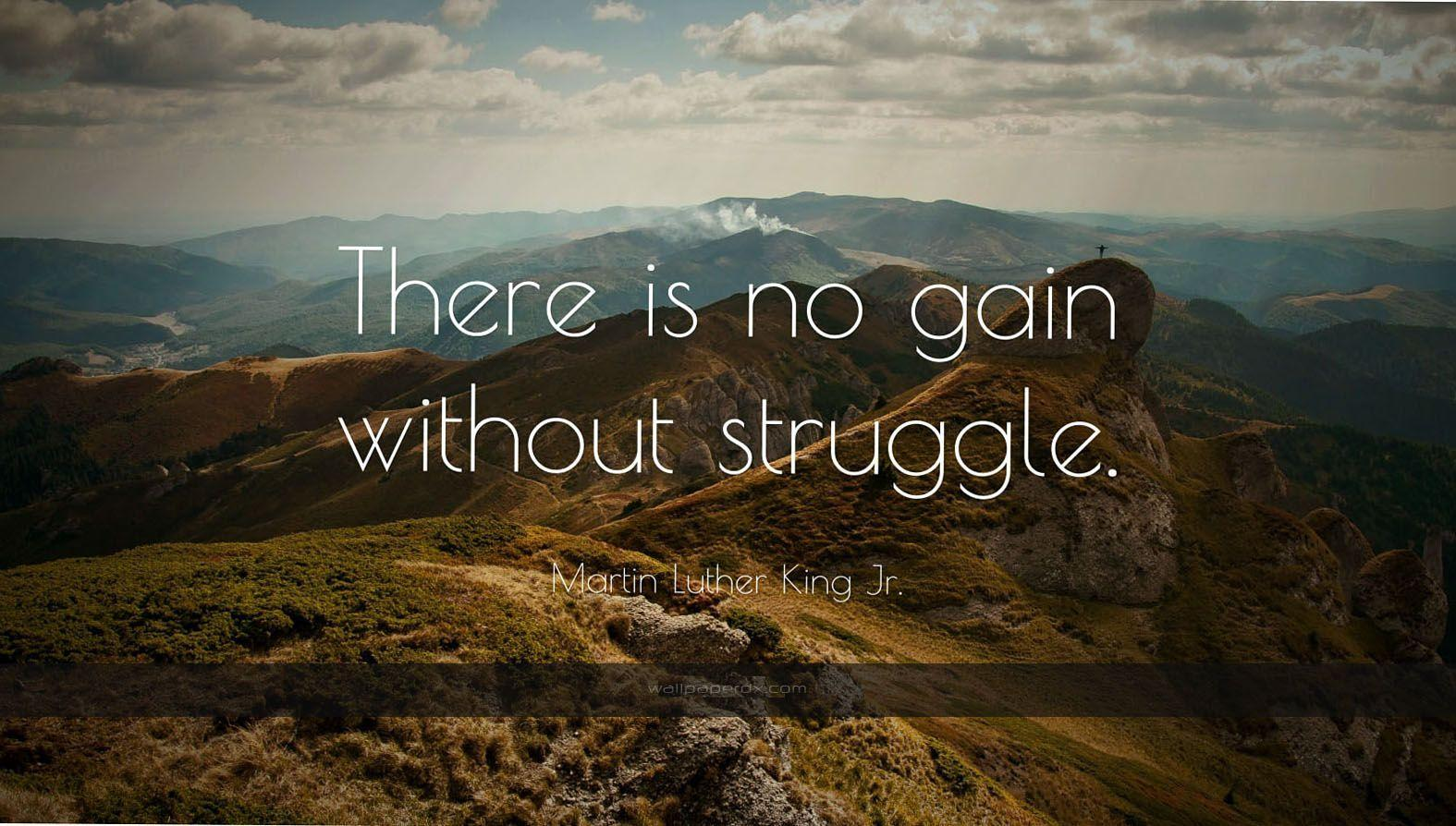 1173 martin luther king jr quote there is no gain without struggle ...