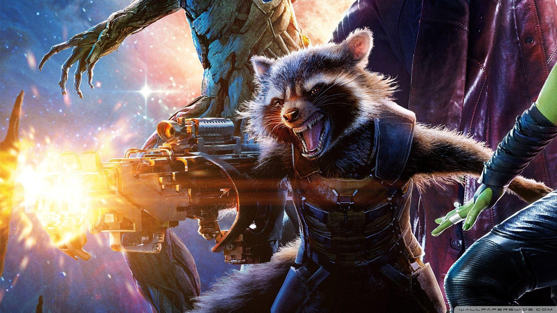Guardians of the Galaxy Rocket Raccoon HD desktop wallpapers