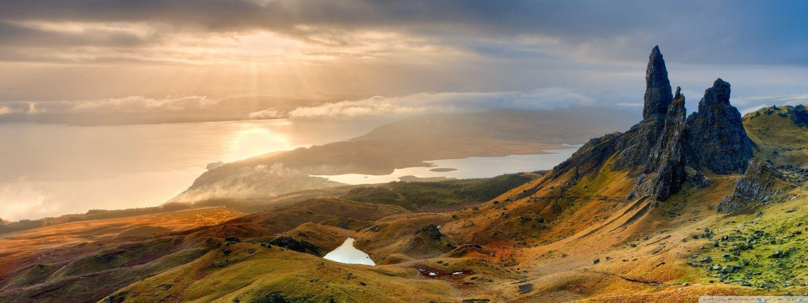 The Storr Hill Panorama Scotland Wallpapers | Hd Wallpapers