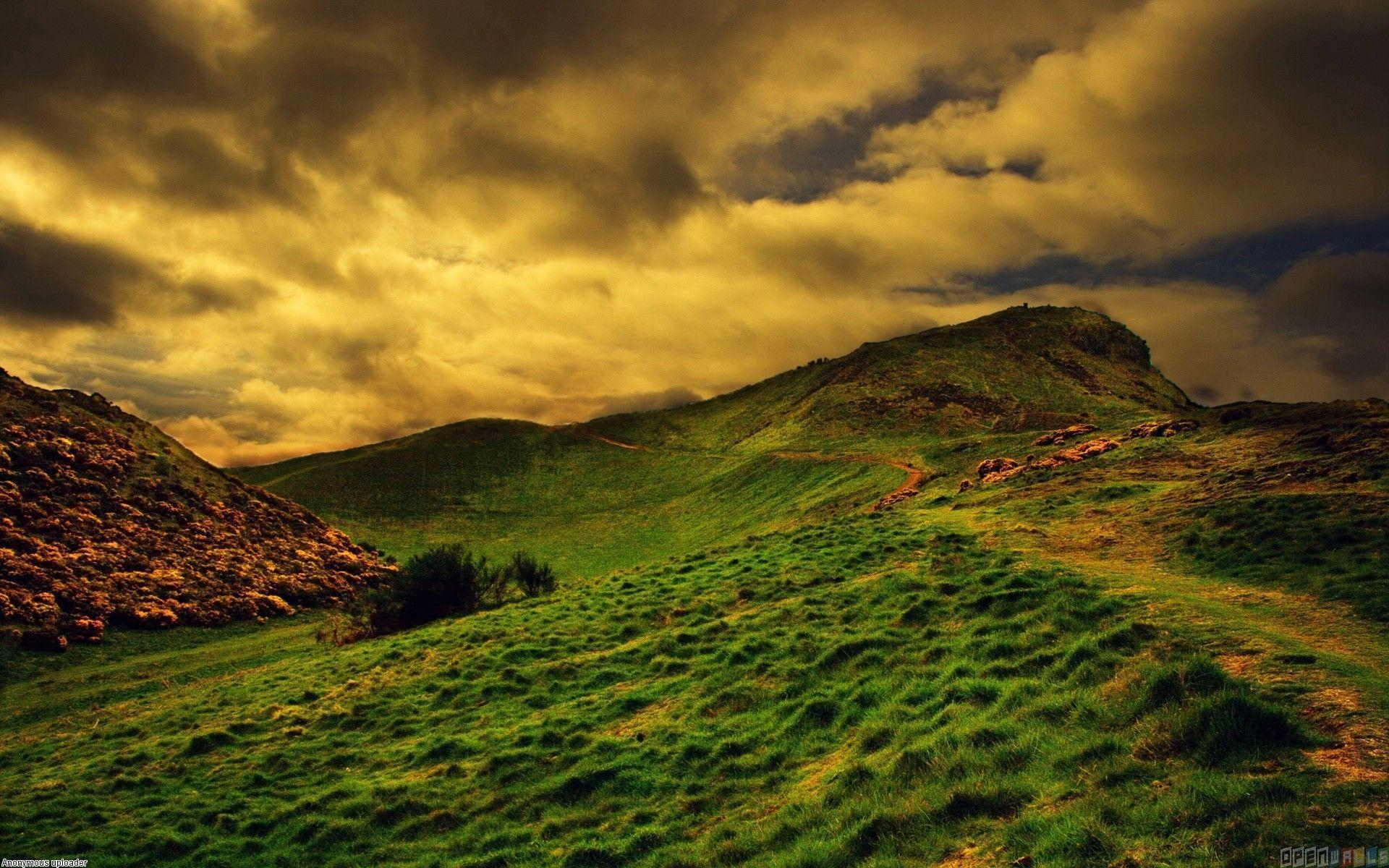 Green hills of scotland wallpaper #15871 - Open Walls