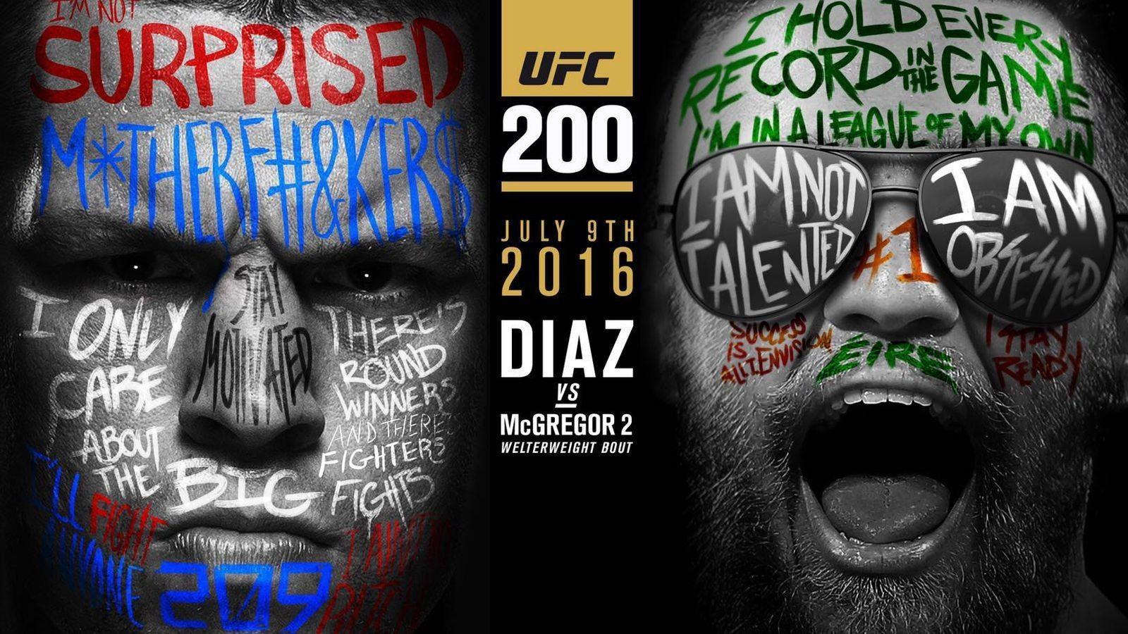 Conor McGregor, #Nate Diaz, #UFC, #mma, #fighting, #poster ...