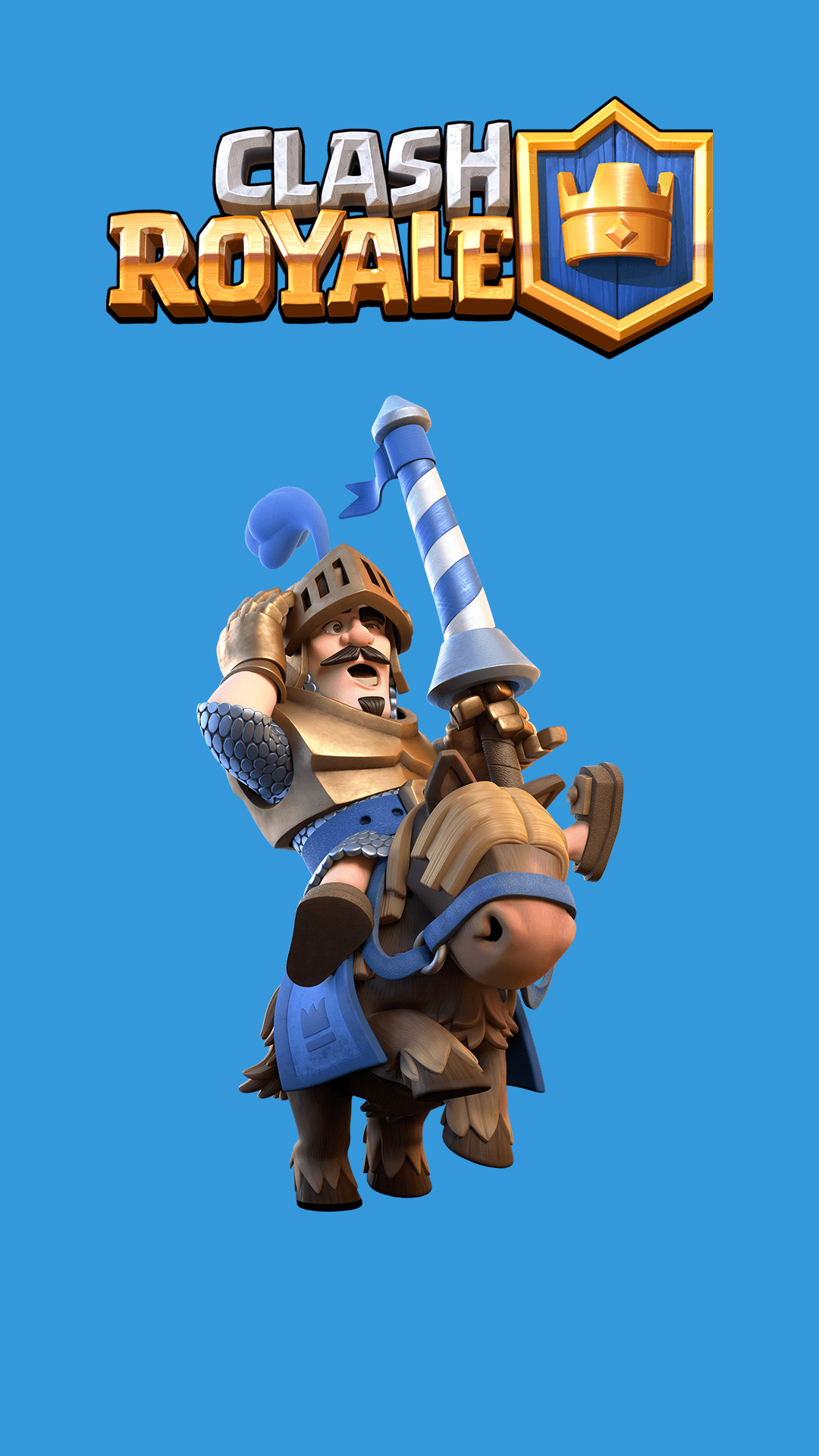 The Blue Prince Clash Royale Games iPhone Wallpaper - Wallpapers ...