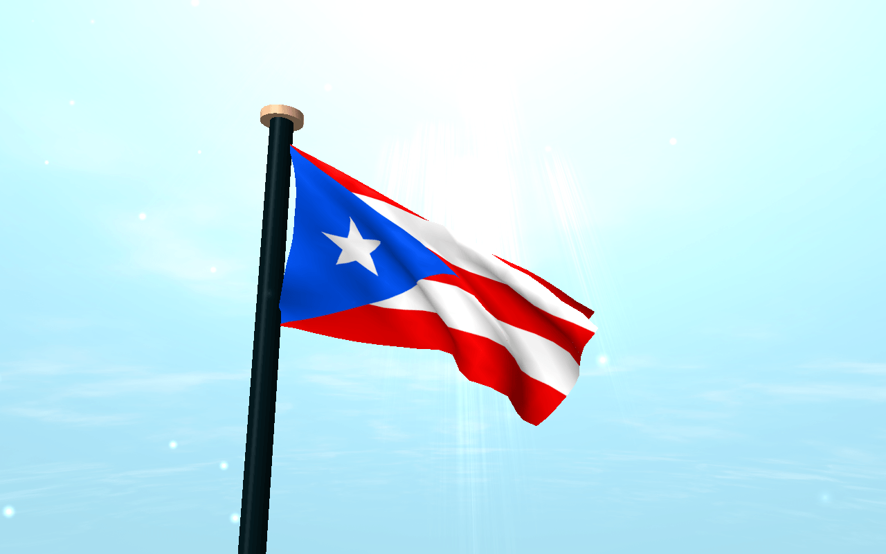 Puerto Rico Flag 3D Free