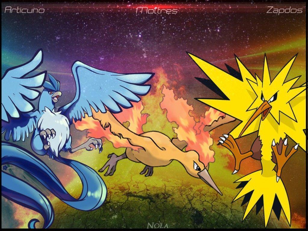 Pokemon zapdos articuno moltres wallpapers