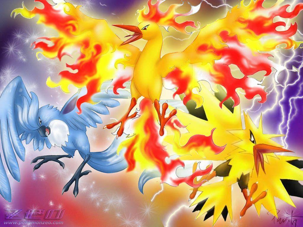Pokemon legendary birds, Yellow and Ice