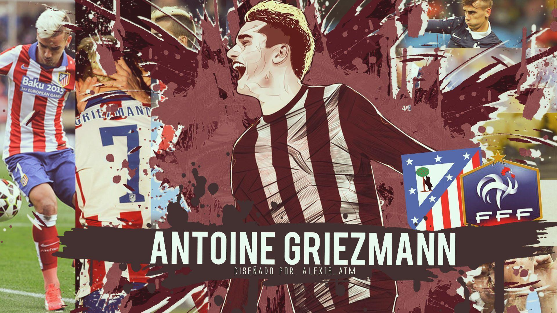 Antoine Griezmann Atletico Madrid Wallpaper | Football Wallpapers ...
