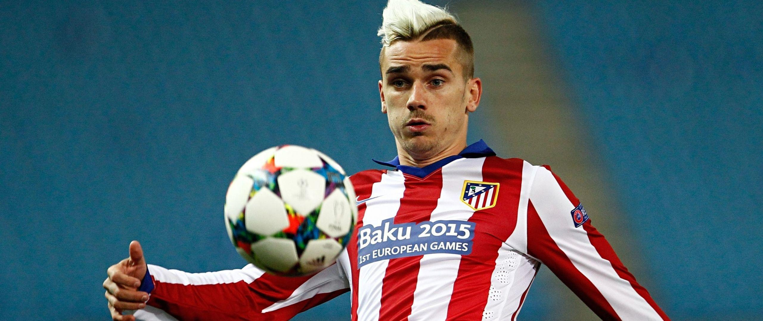 Download Wallpaper 2560x1080 Antoine griezmann, Football player ...