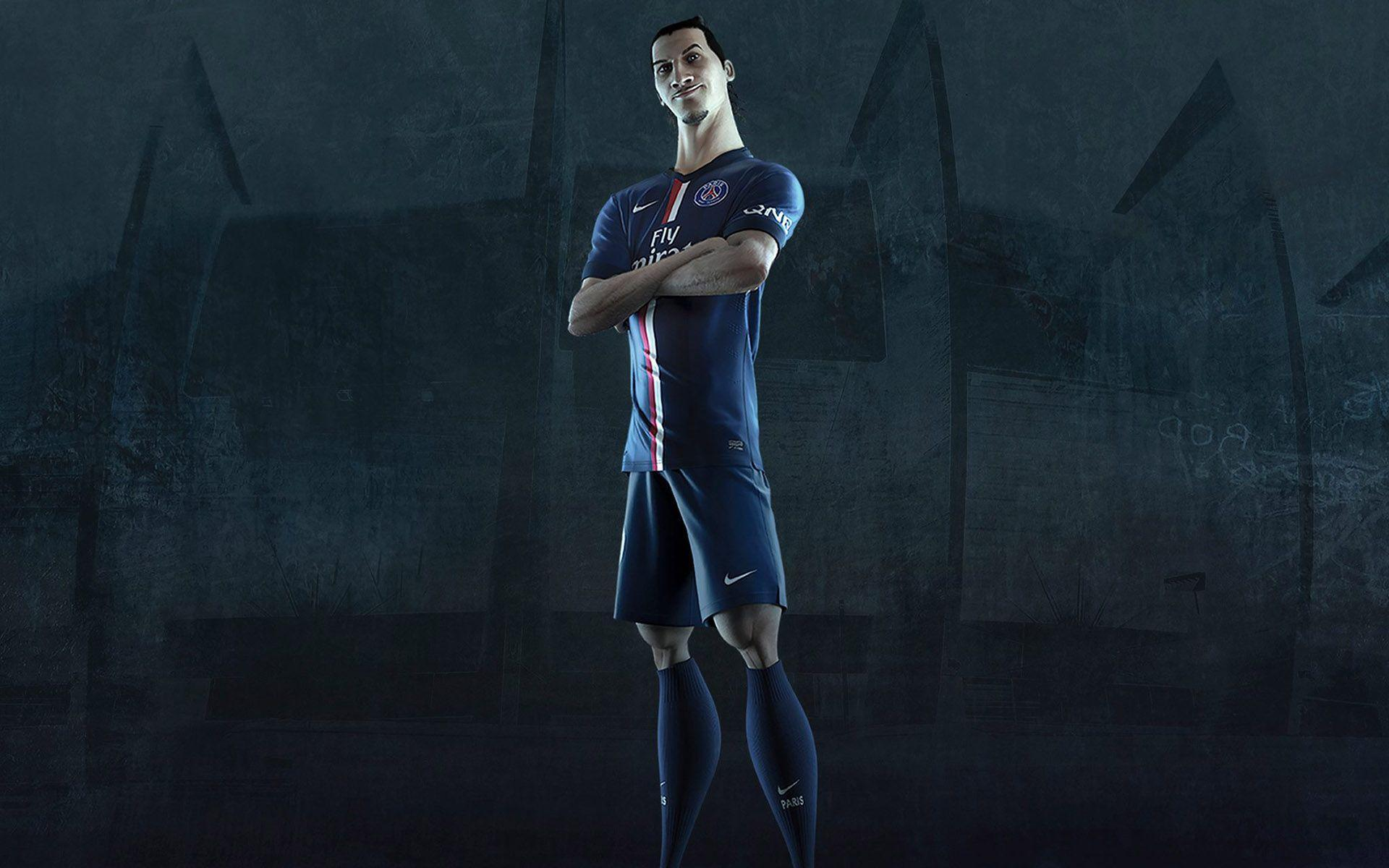 Zlatan Ibrahimovic PSG Jersey 2014 2015 Home Kit Wallpaper Free