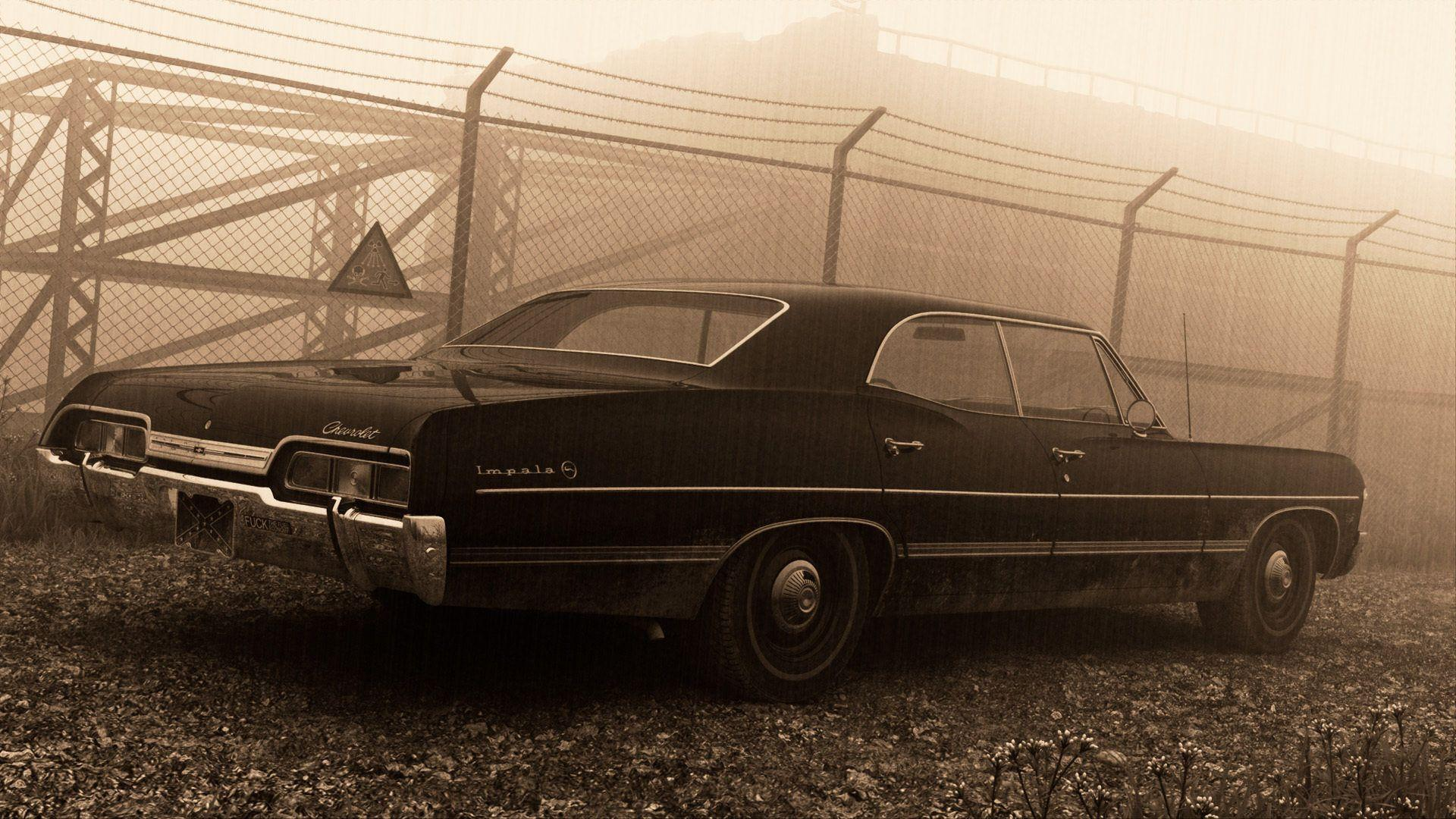 1920x1080 supernatural, hardtop, chevrolet impala, 1967, sedan