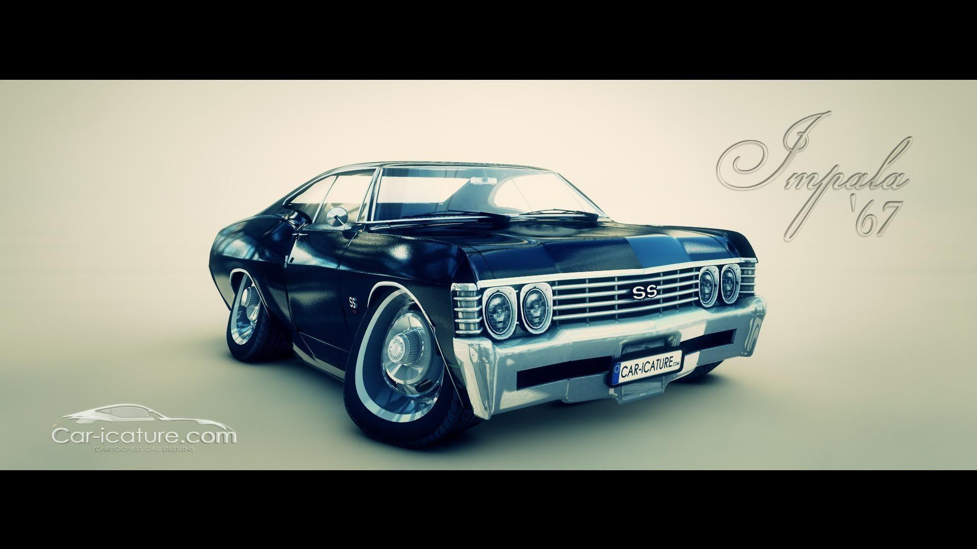 1967 Chevy Impala HD desktop wallpapers : Widescreen : High