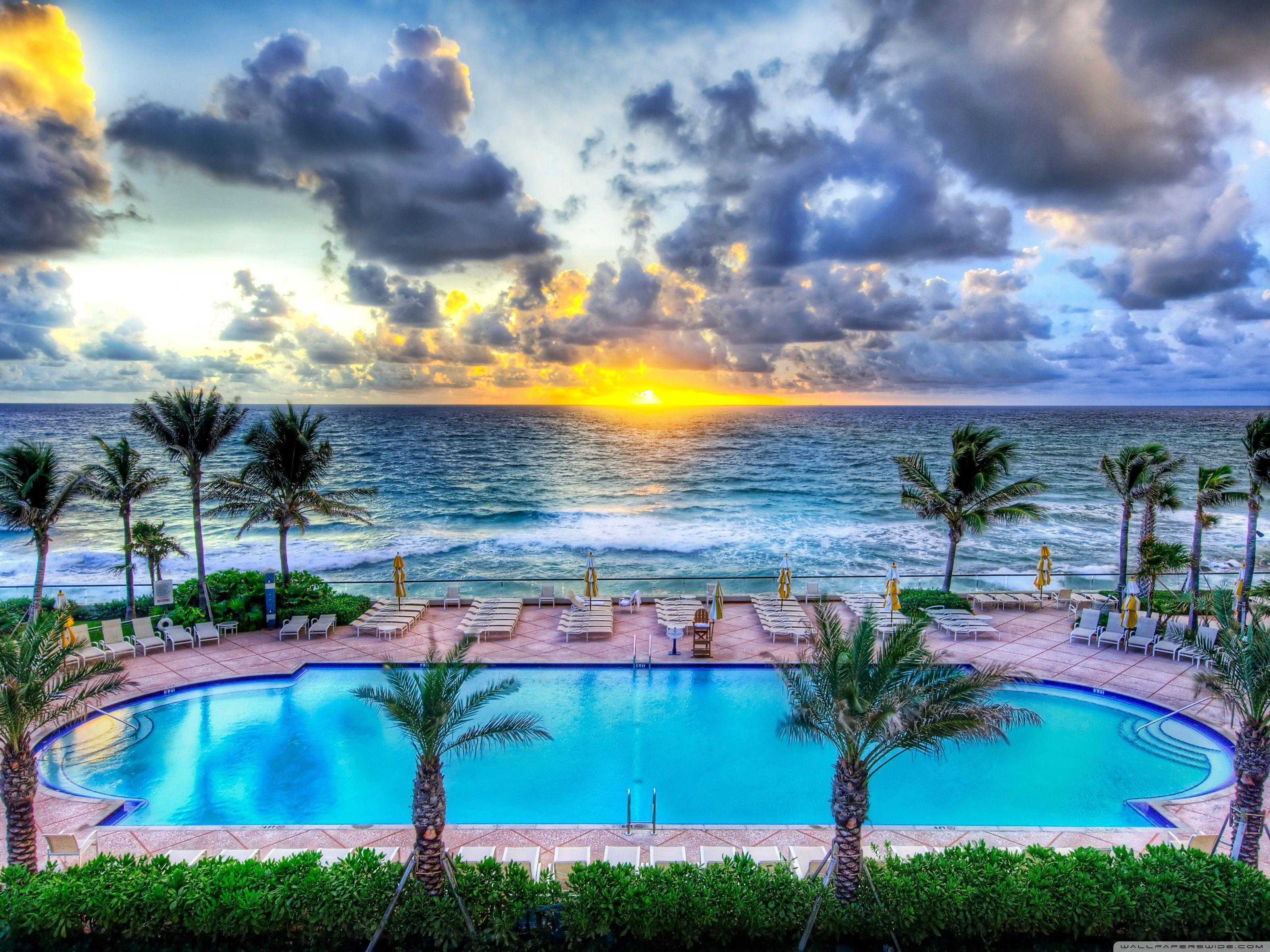 Pool Party, Florida HD desktop wallpapers : Widescreen : High