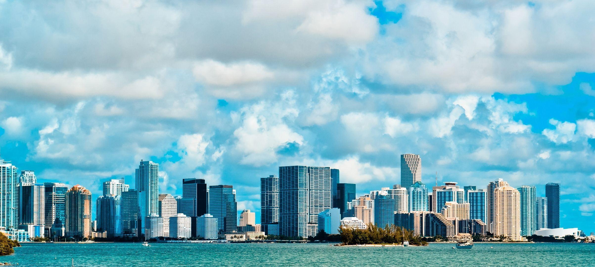 Download Wallpapers Miami, Usa, America, Miami beach, Sky, Clouds