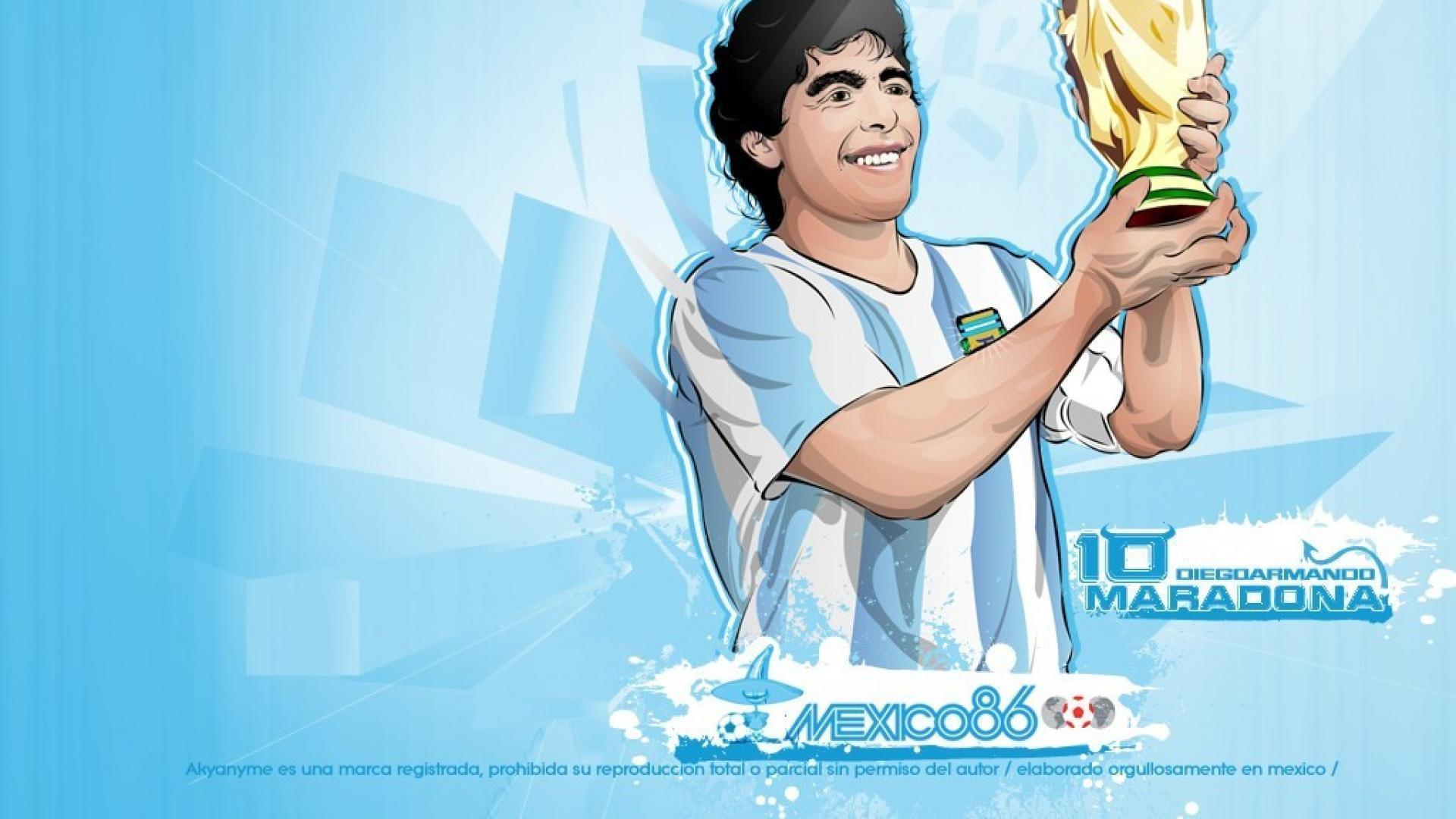 Vector soccer diego maradona football player wallpapers