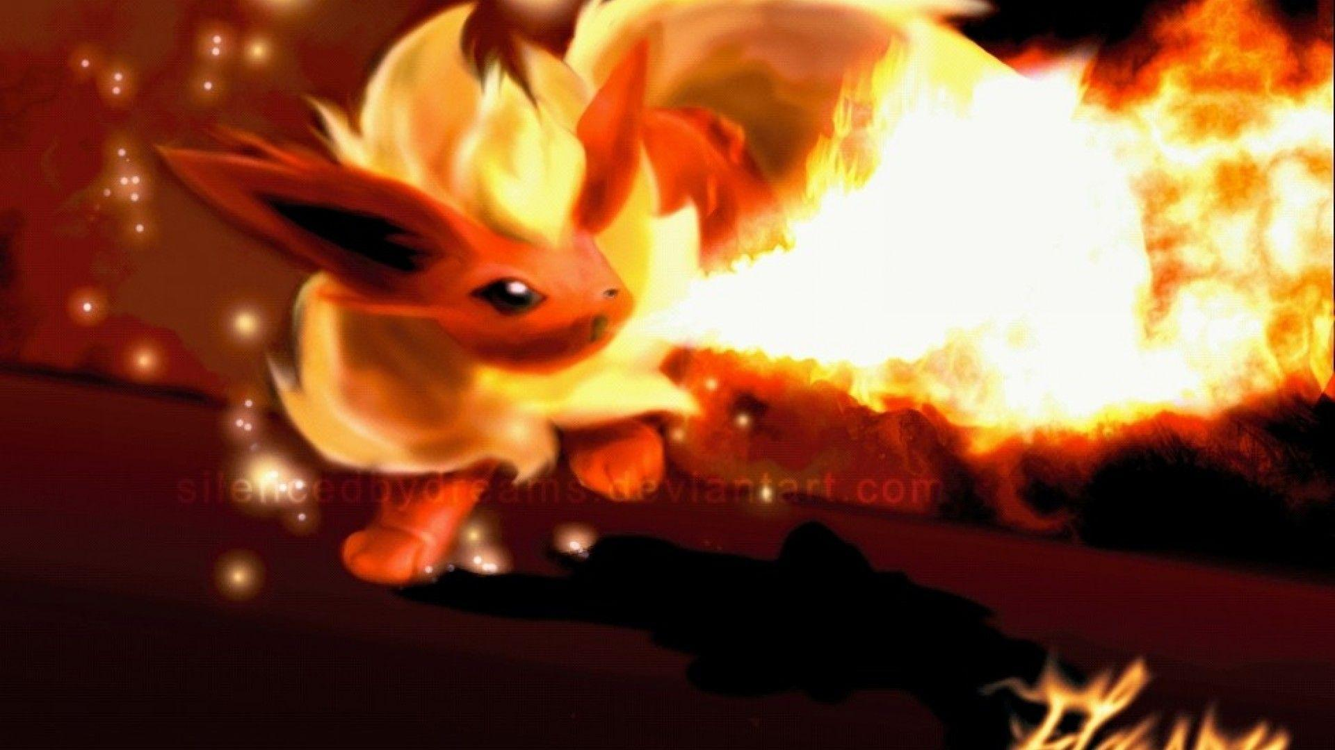 ScreenHeaven: Flareon Pokemon desktop and mobile backgrounds