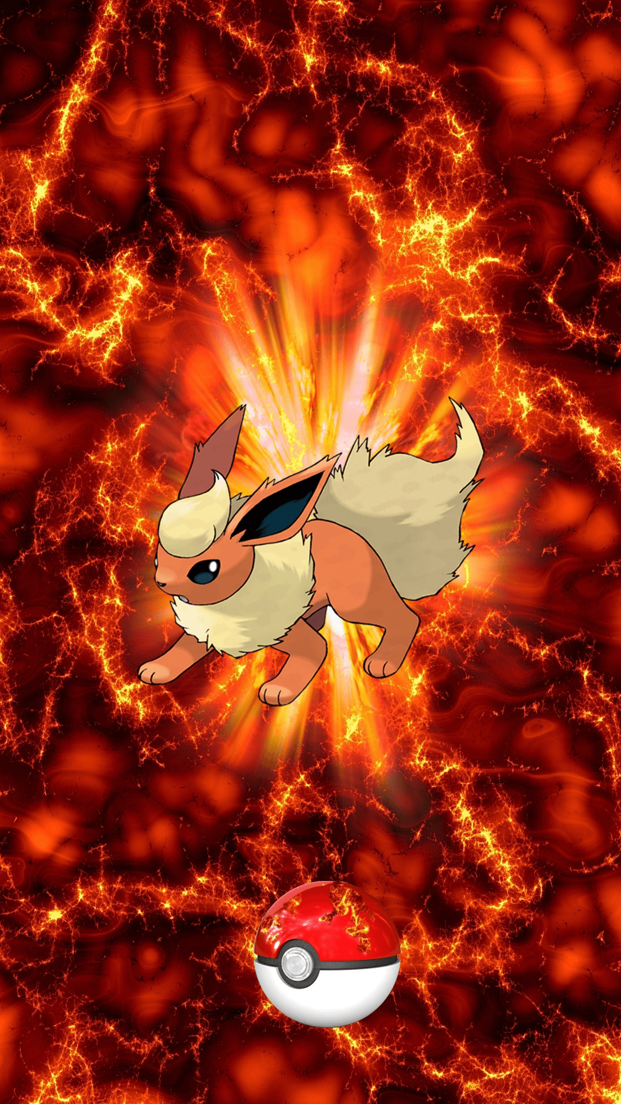 136 Fire Pokeball Flareon Booster Eevee