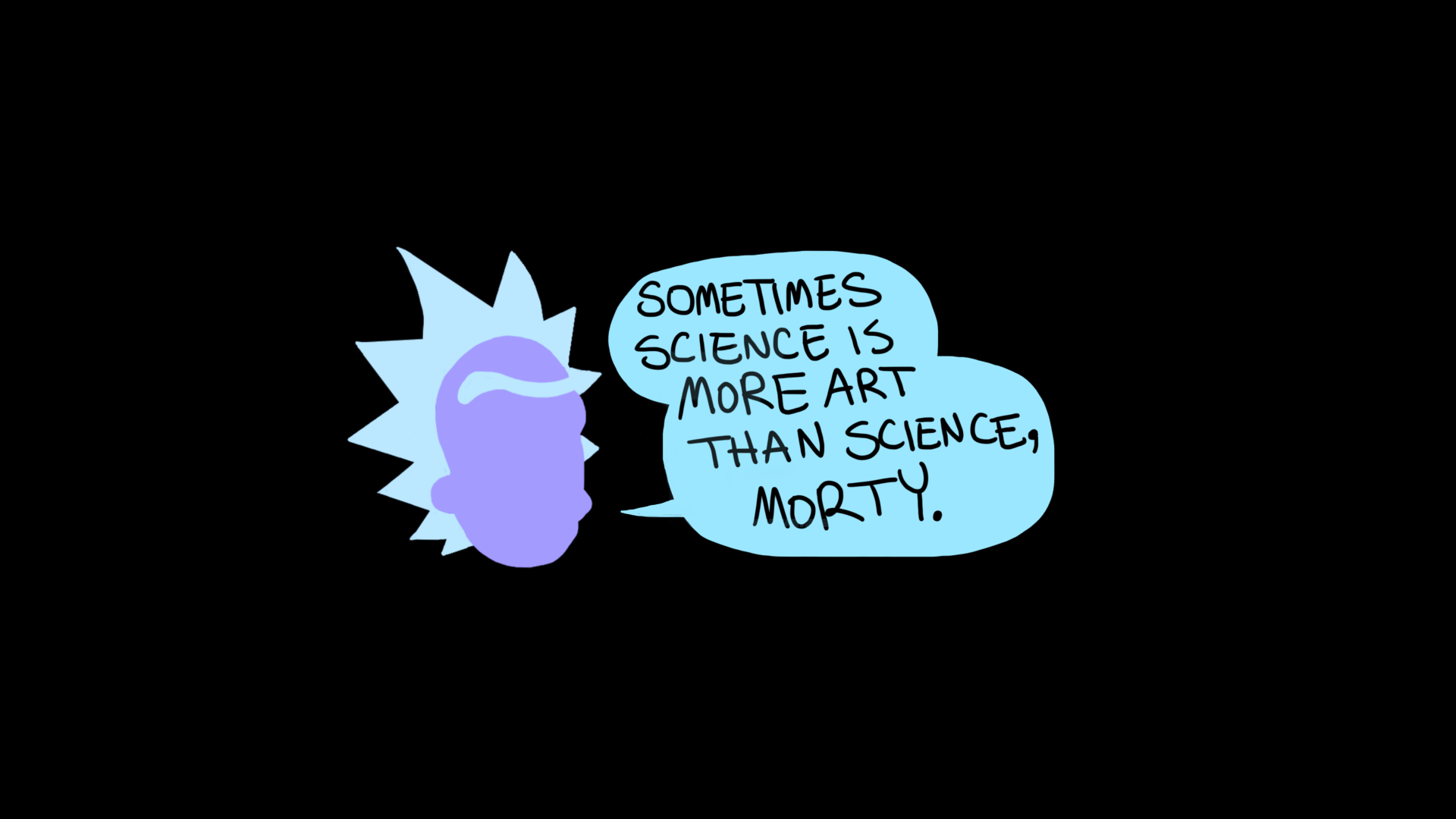 Rick And Morty, Rick Sanchez, Quote, Science, Simple Backgrounds
