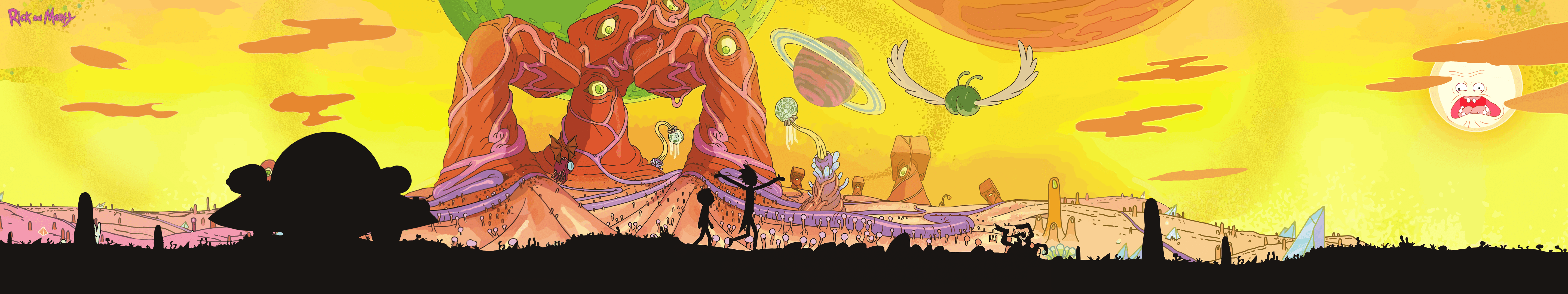 Rick and Morty Triple Monitor Wallpapers by EasyCzT