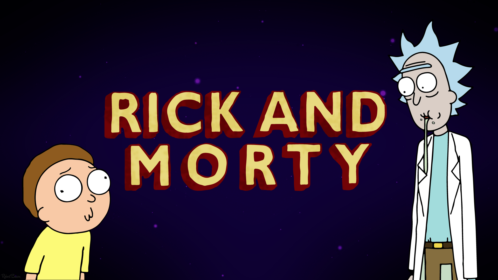 I made myself a Rick and Morty wallpaper. I thought I would share