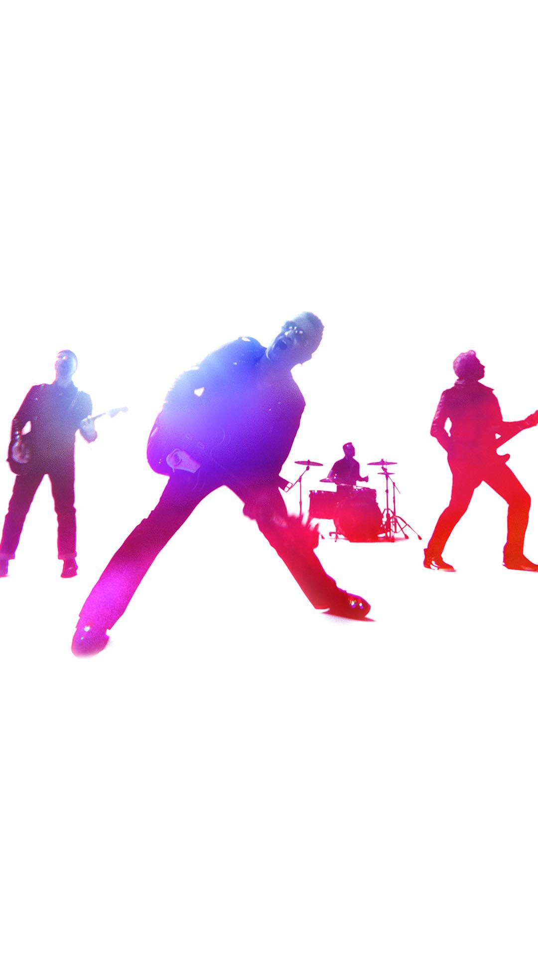 U2 Band Colorful Concert Android Wallpapers free download